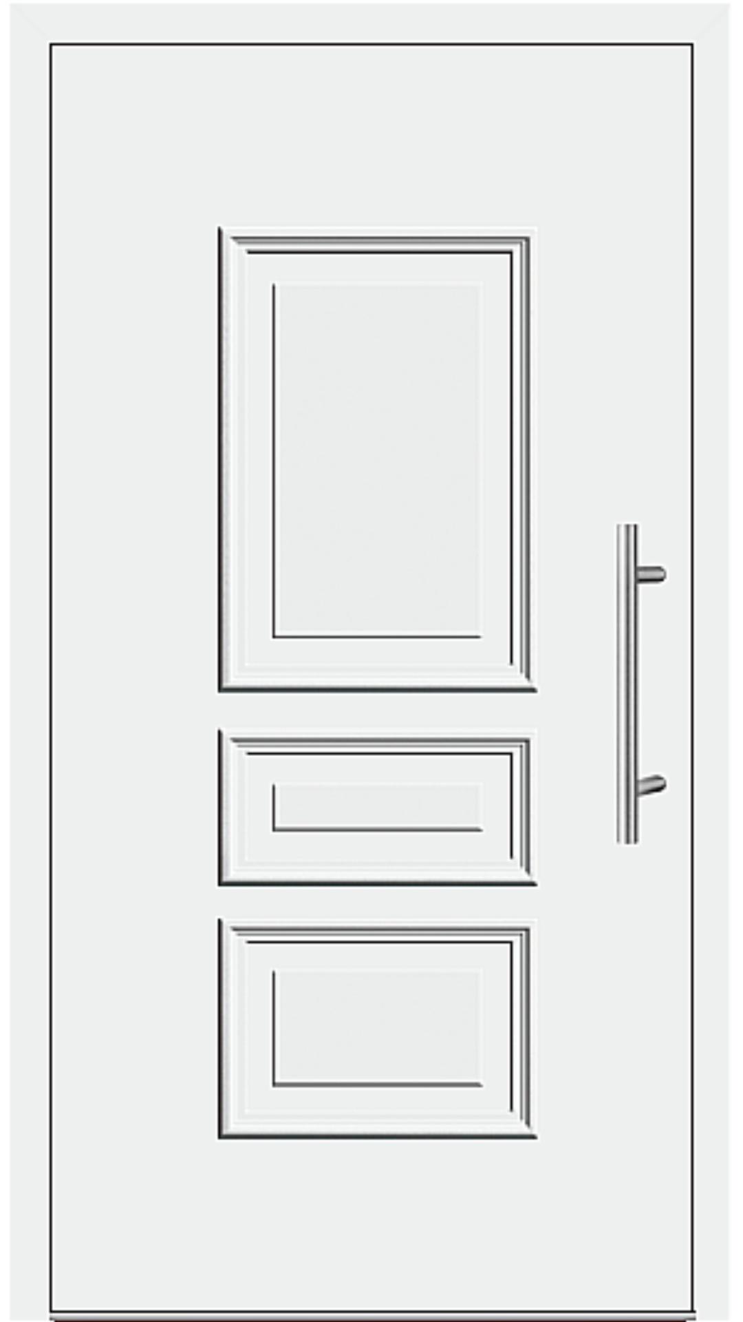 Aluminium Haustür Modell 343-90 weiß