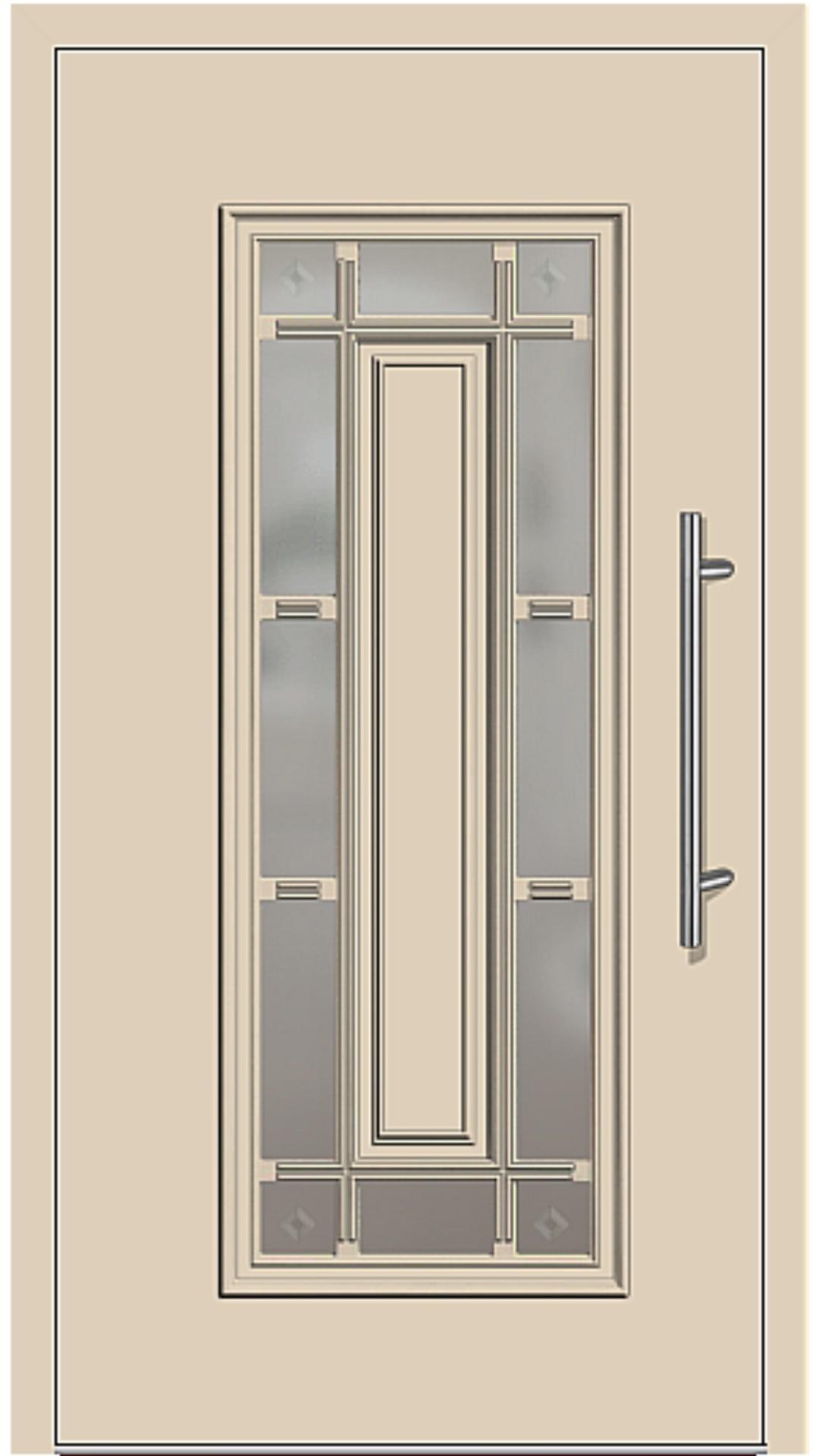Aluminium Haustür Modell 4150-11 beige
