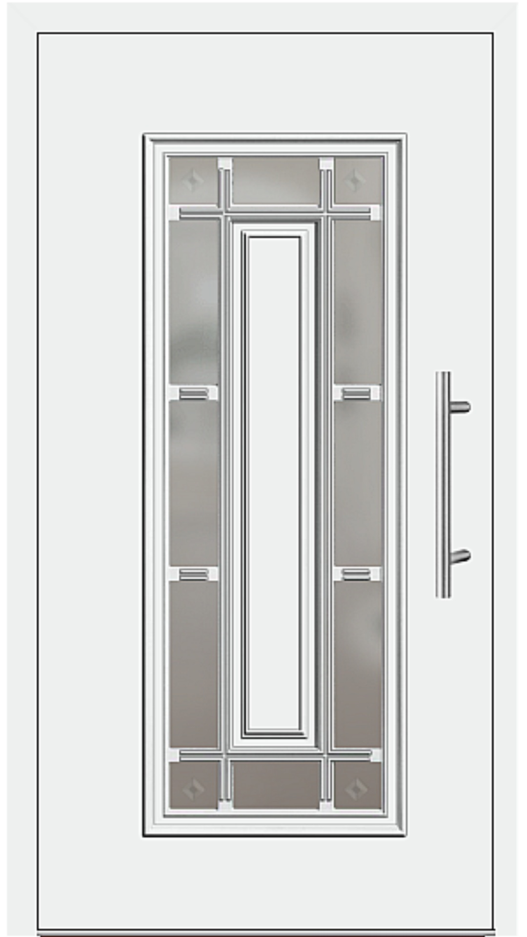 Aluminium Haustür Modell 4150-11 weiß