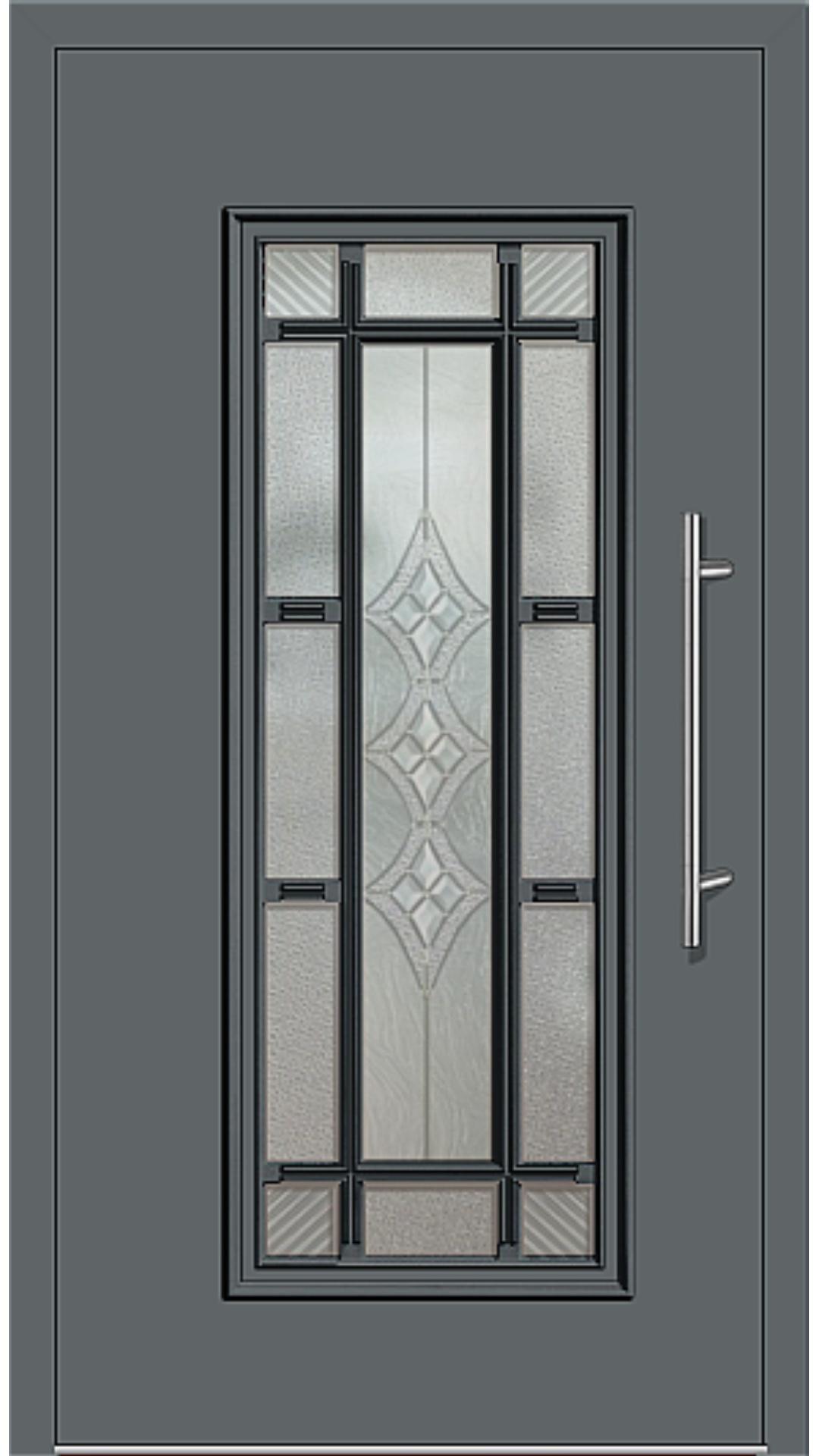 Aluminium Haustür Modell 4151-11 basaltgrau