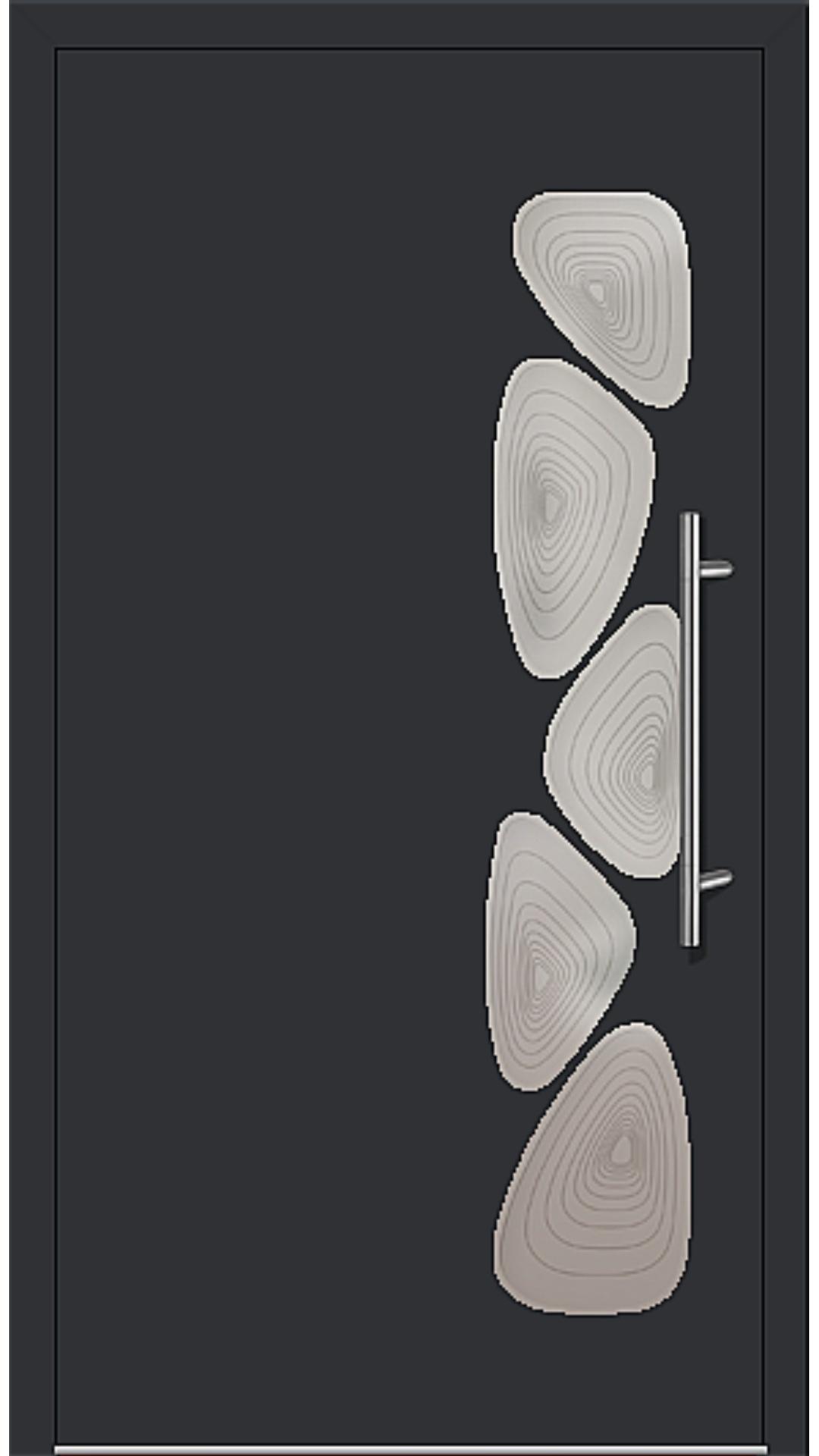 Aluminium Haustür Modell 6152-40 schwarz