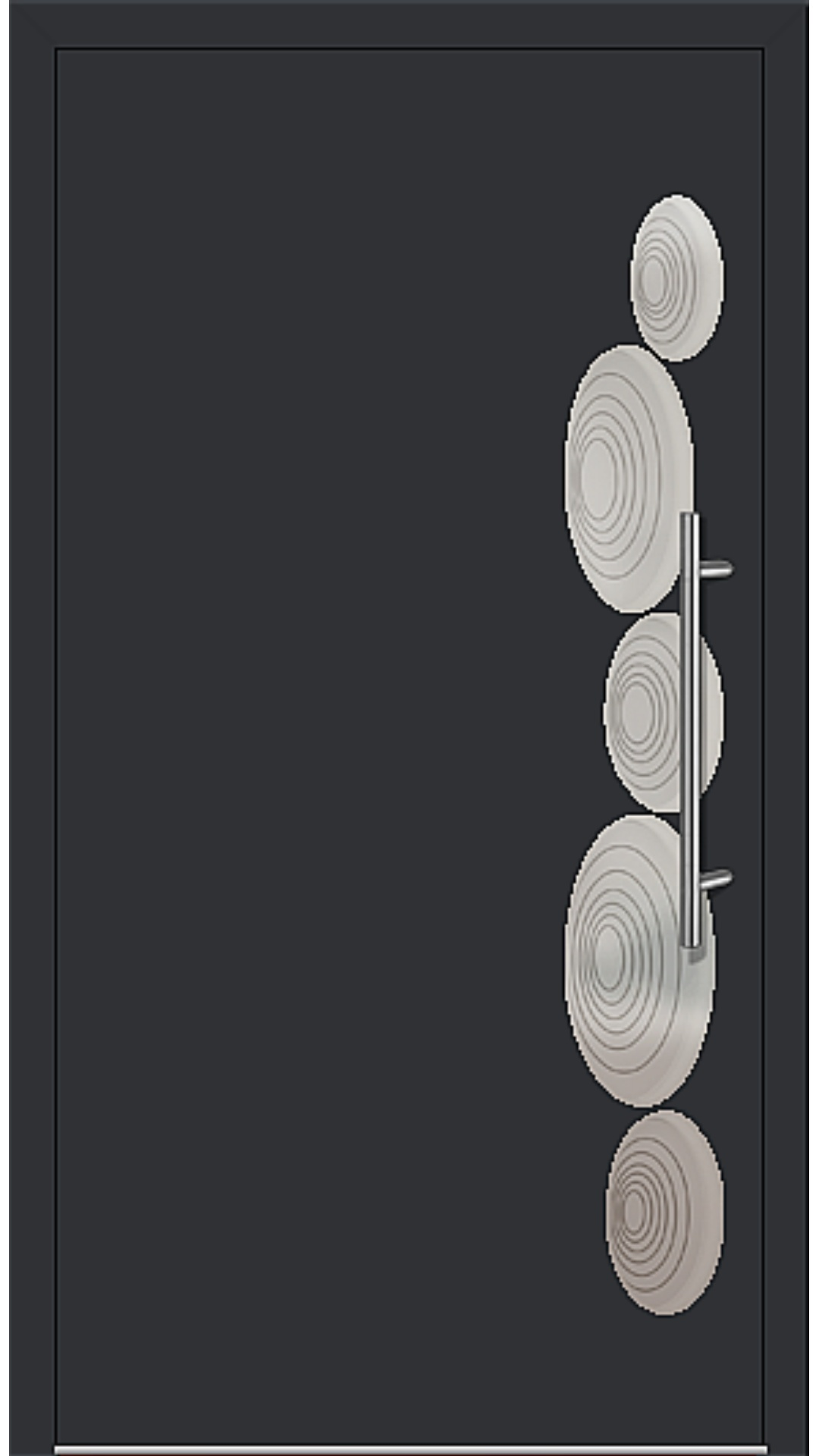 Aluminium Haustür Modell 6153-40 schwarz