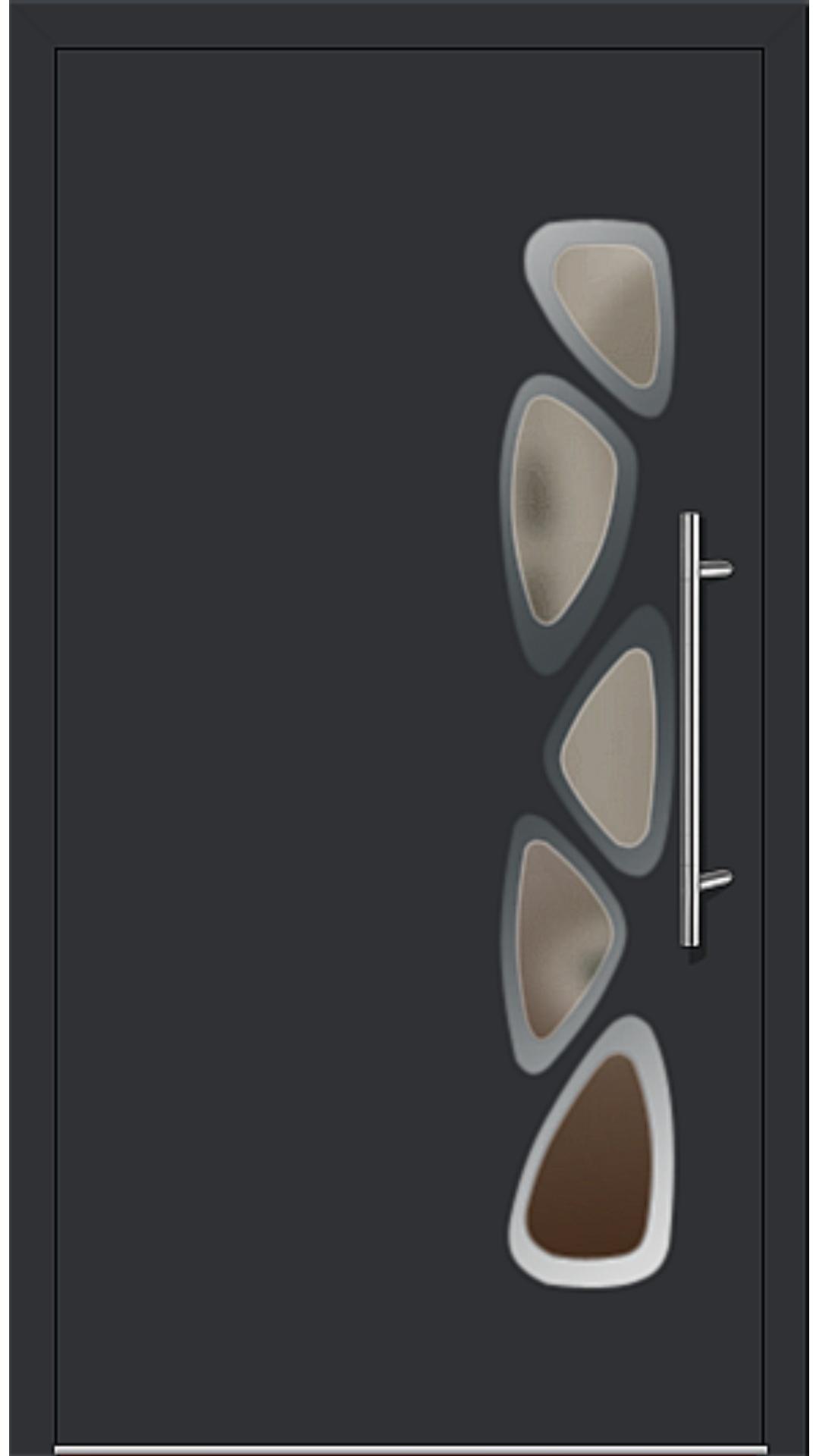 Aluminium Haustür Modell 6155-40 schwarz