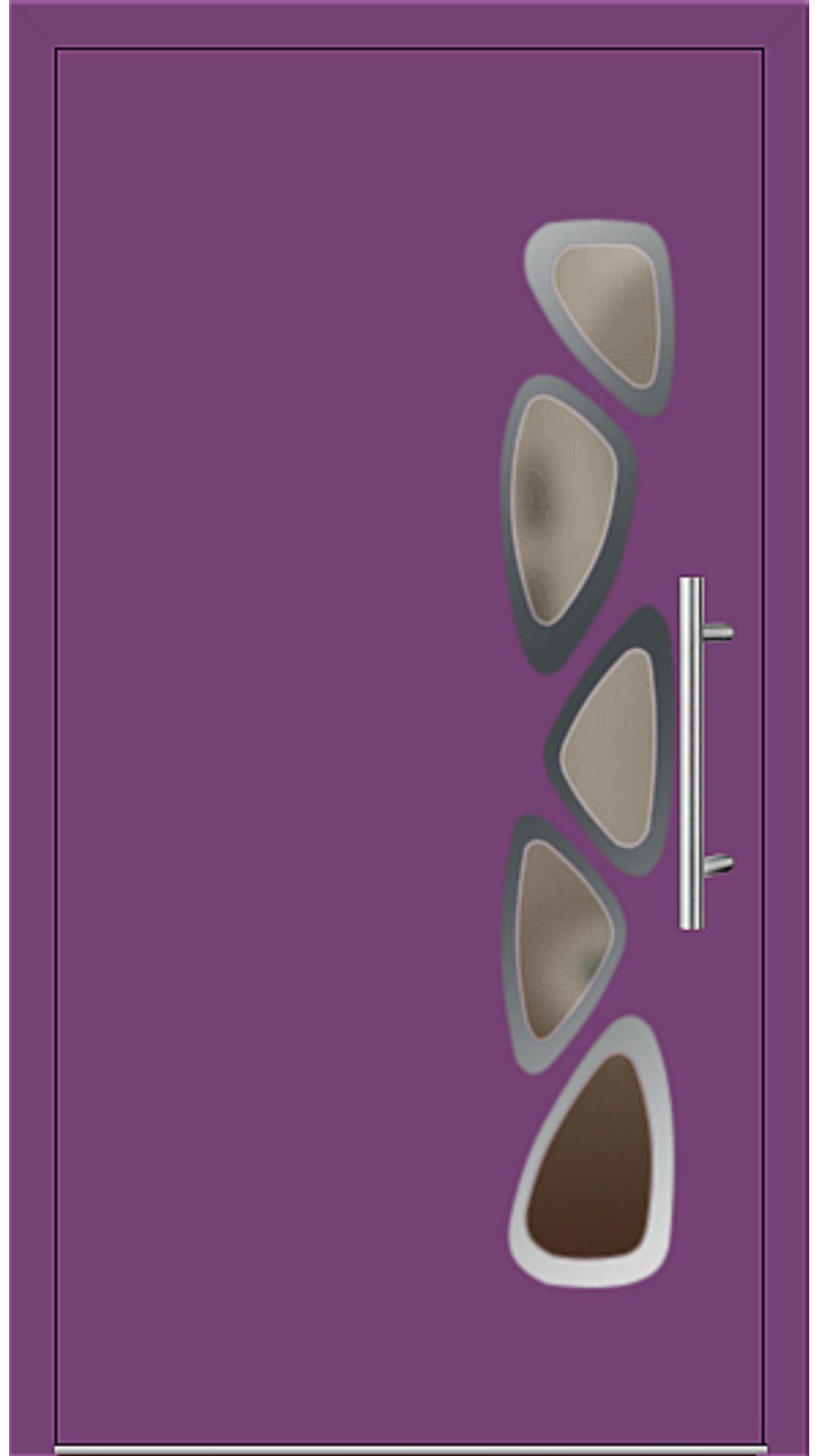 Aluminium Haustür Modell 6155-40 singalviolett