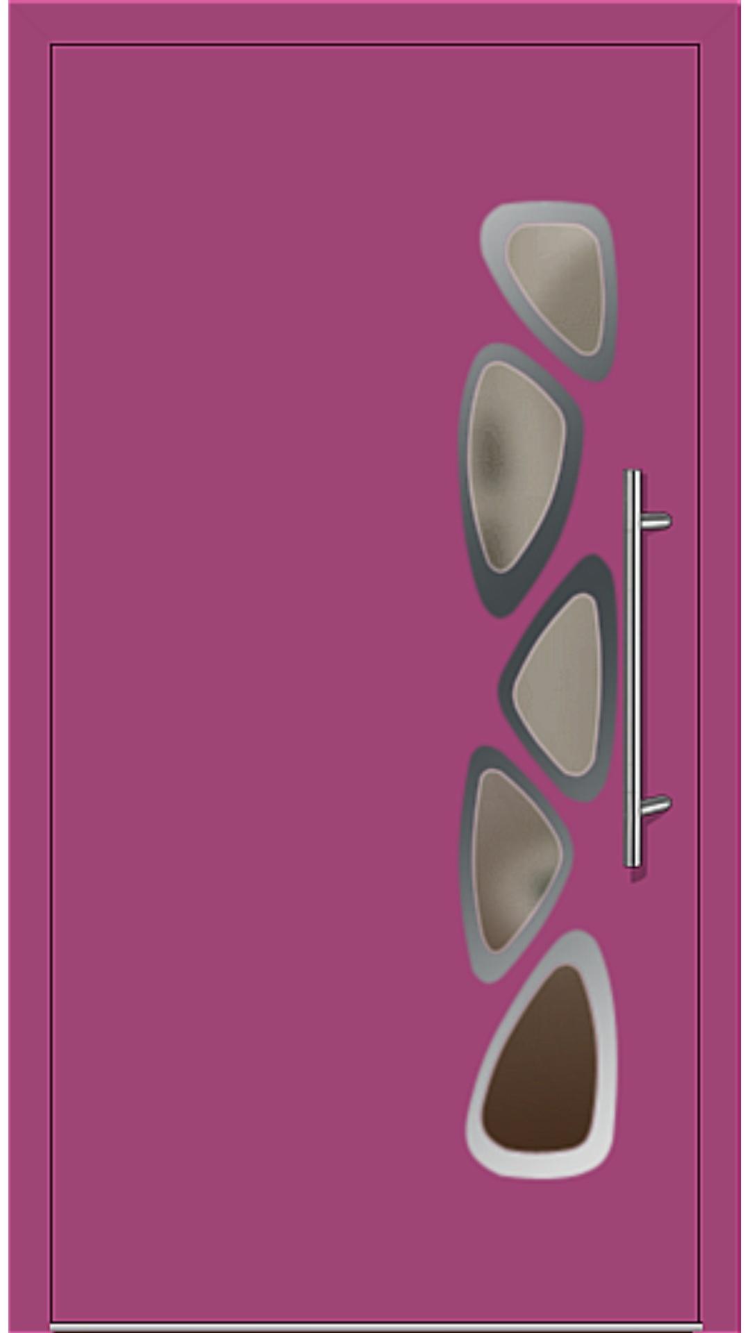 Aluminium Haustür Modell 6155-40 telemagenta