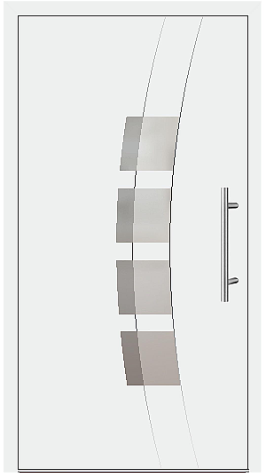 Aluminium Haustür Modell 6162-54 weiß