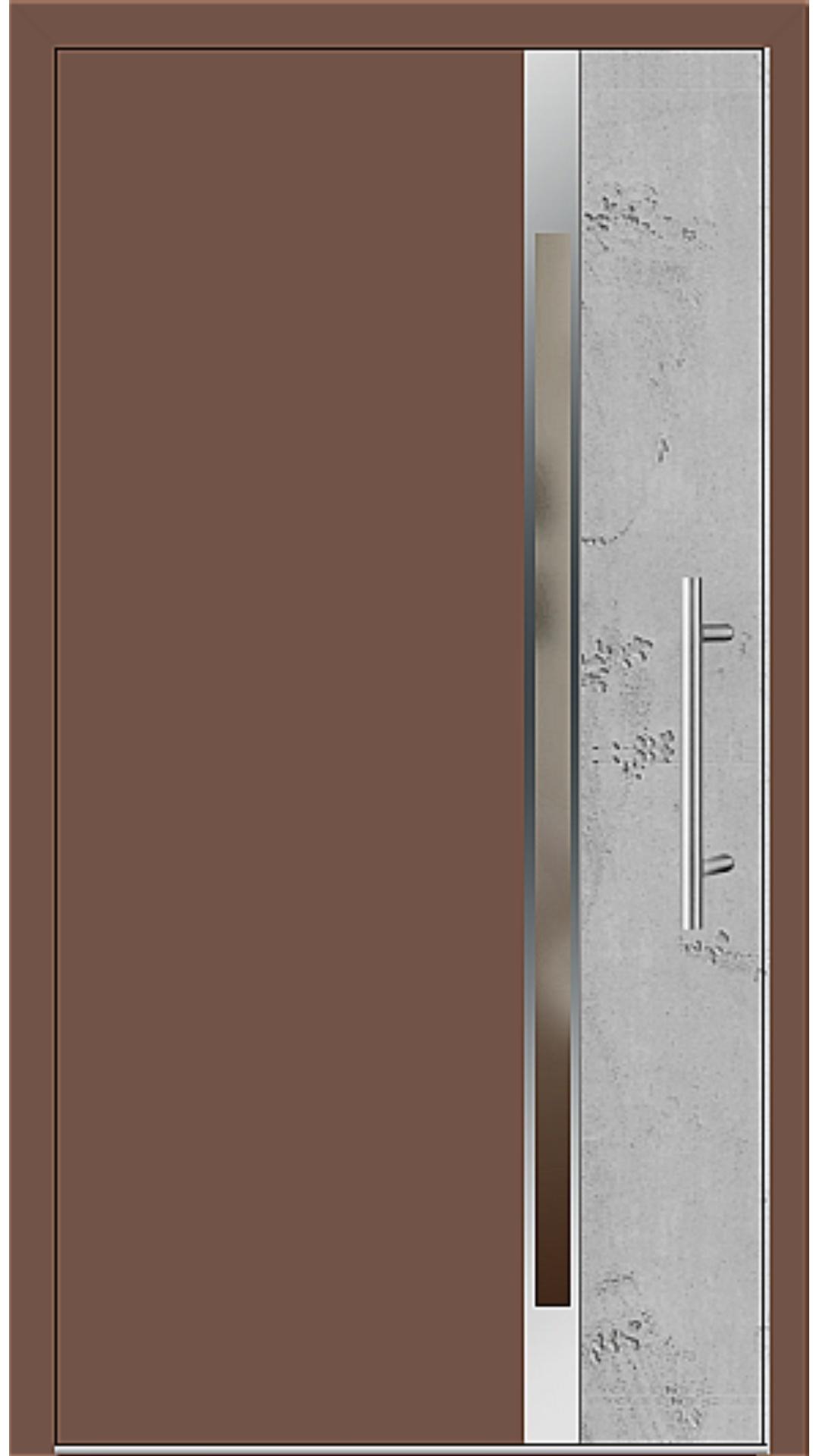 Aluminium Haustür Modell 6175-40 lehmbraun