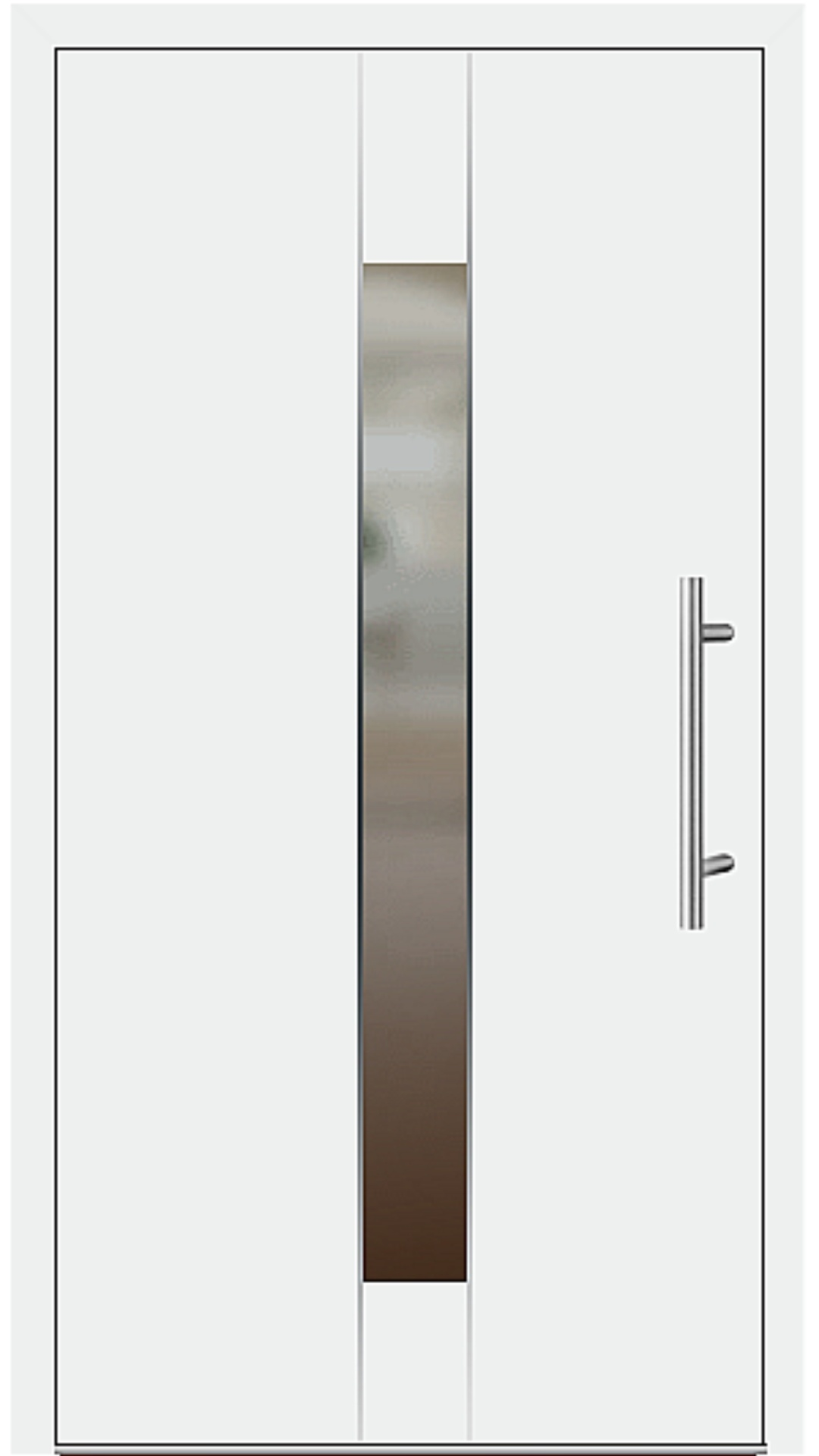 Aluminium Haustür Modell 6182-54 weiß