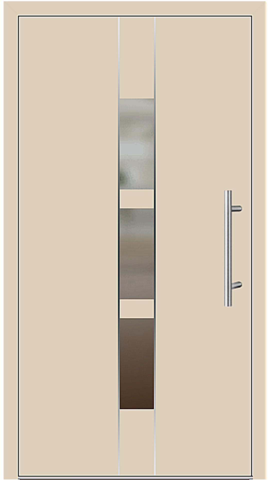 Aluminium Haustür Modell 6183-54 beige