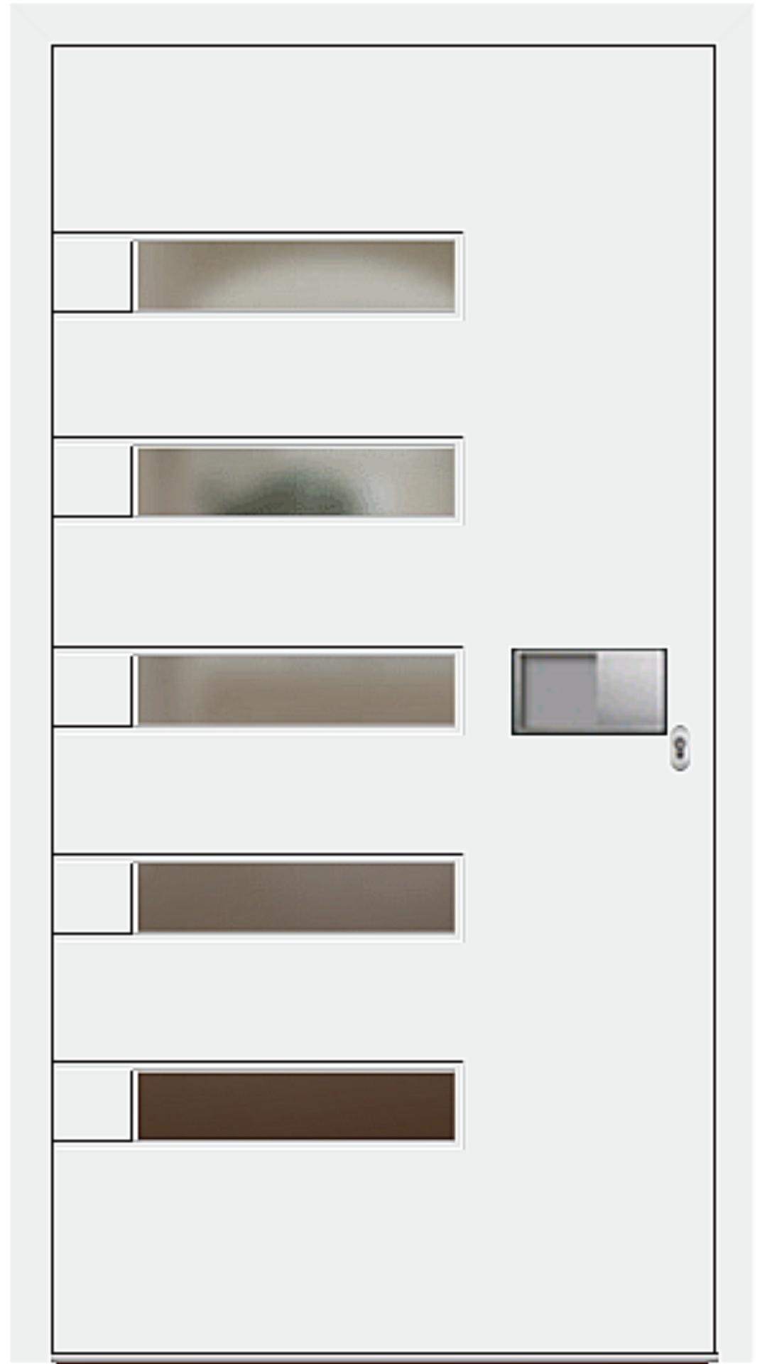 Aluminium Haustür Modell 6188-52 weiß