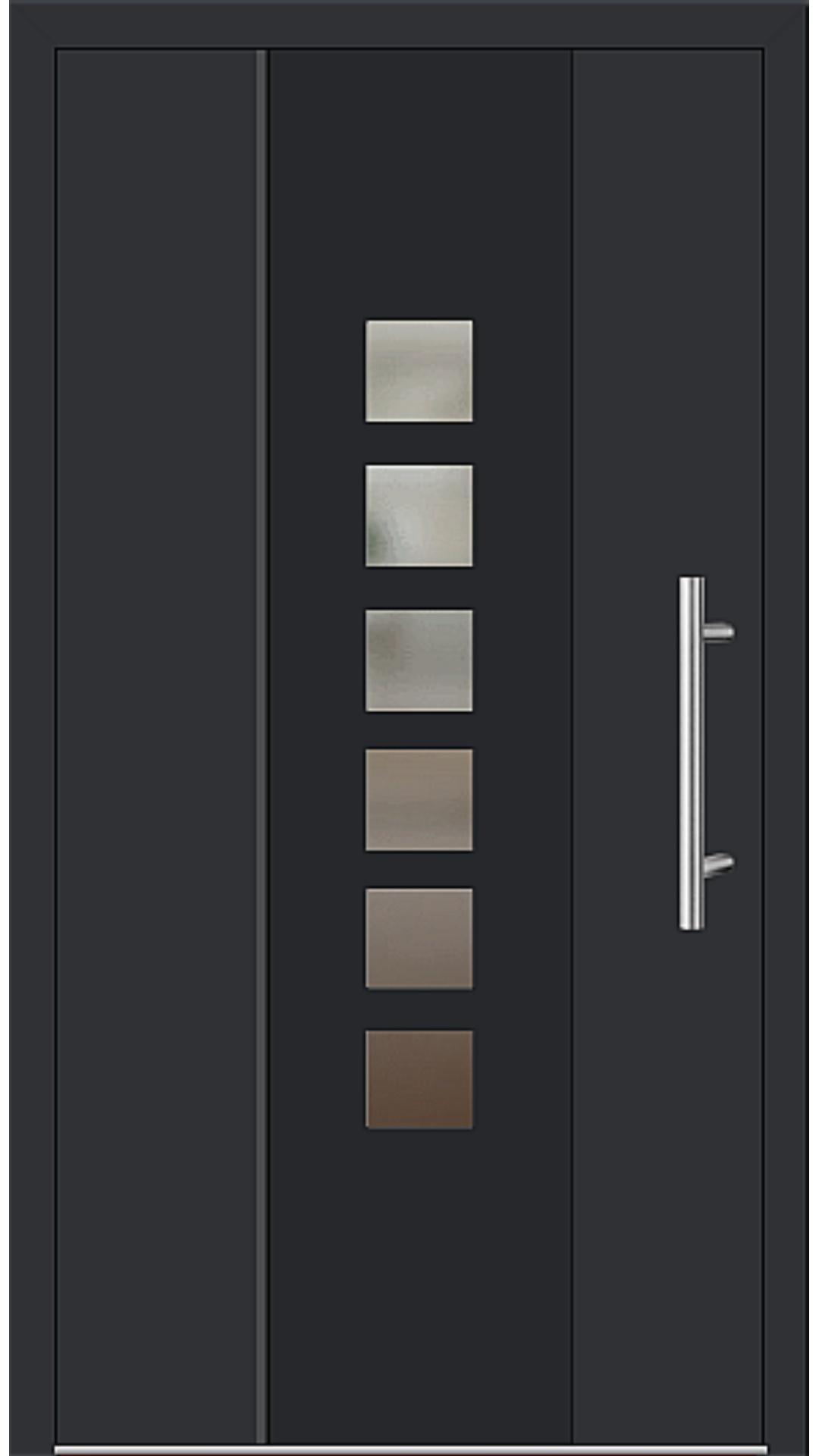 Aluminium Haustür Modell 6193-58 schwarz