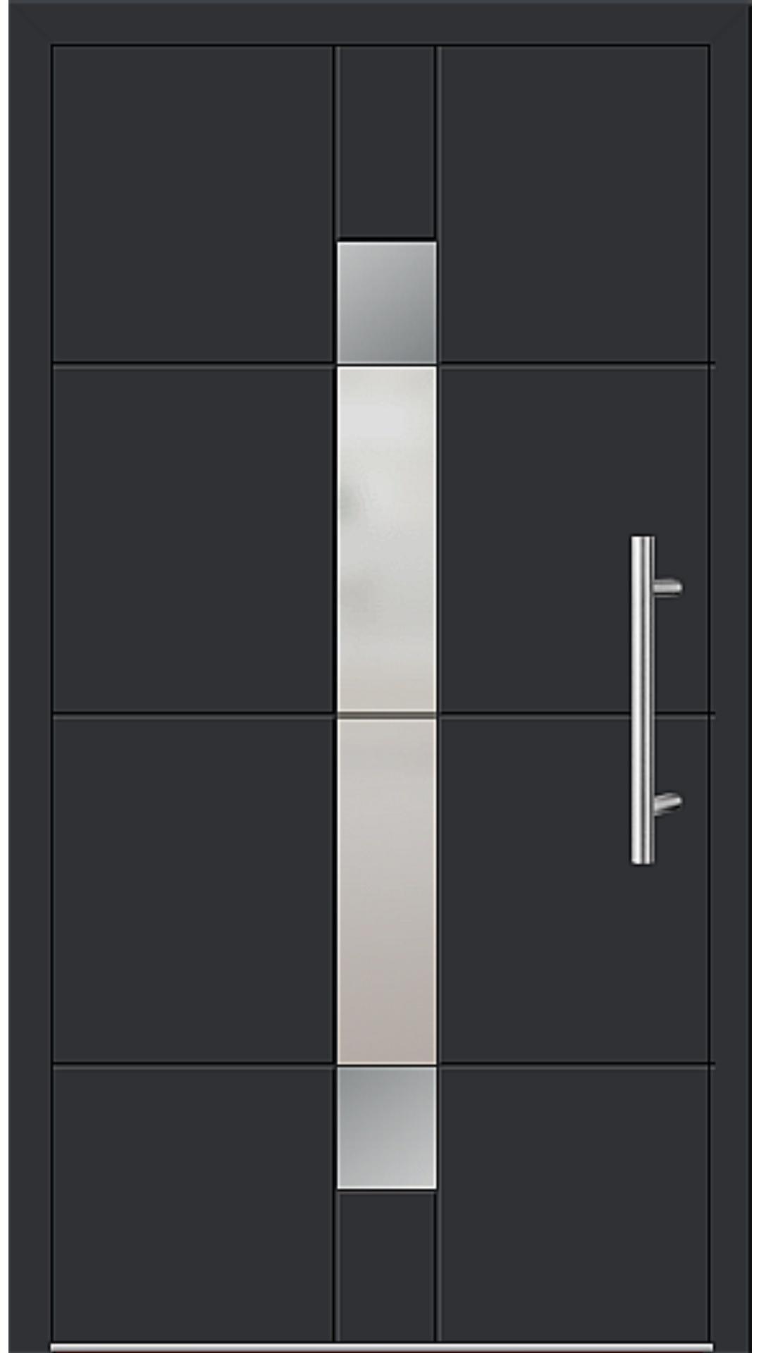 Aluminium Haustür Modell 6347-57 schwarz