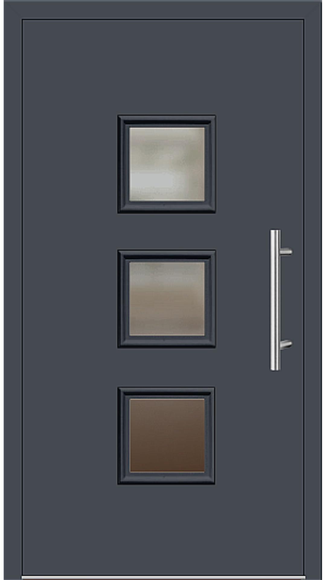 Aluminium Haustür Modell 6418-60 graphitgrau