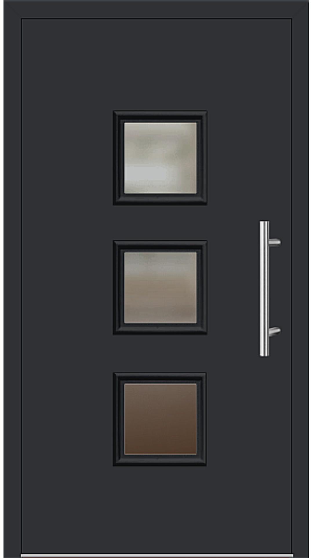 Aluminium Haustür Modell 6418-60 schwarz