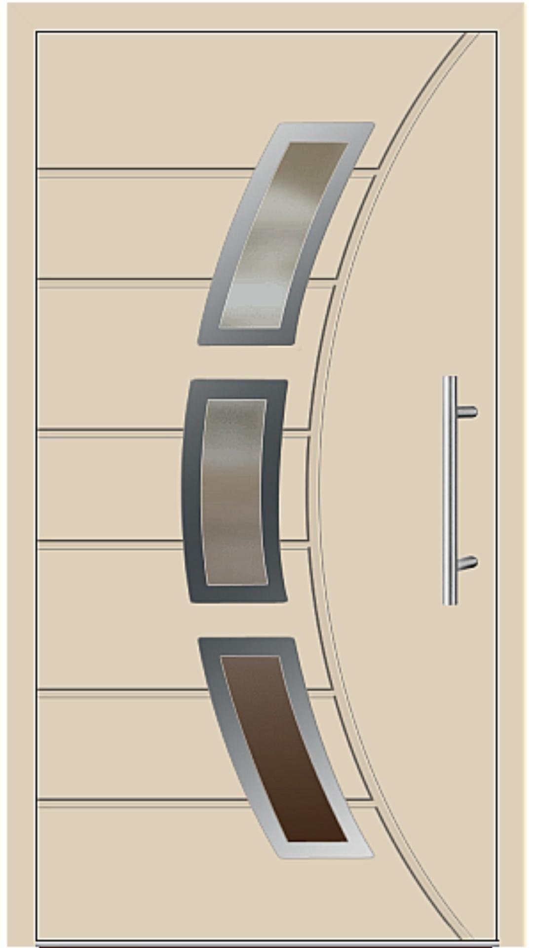 Aluminium Haustür Modell 6437-72 beige