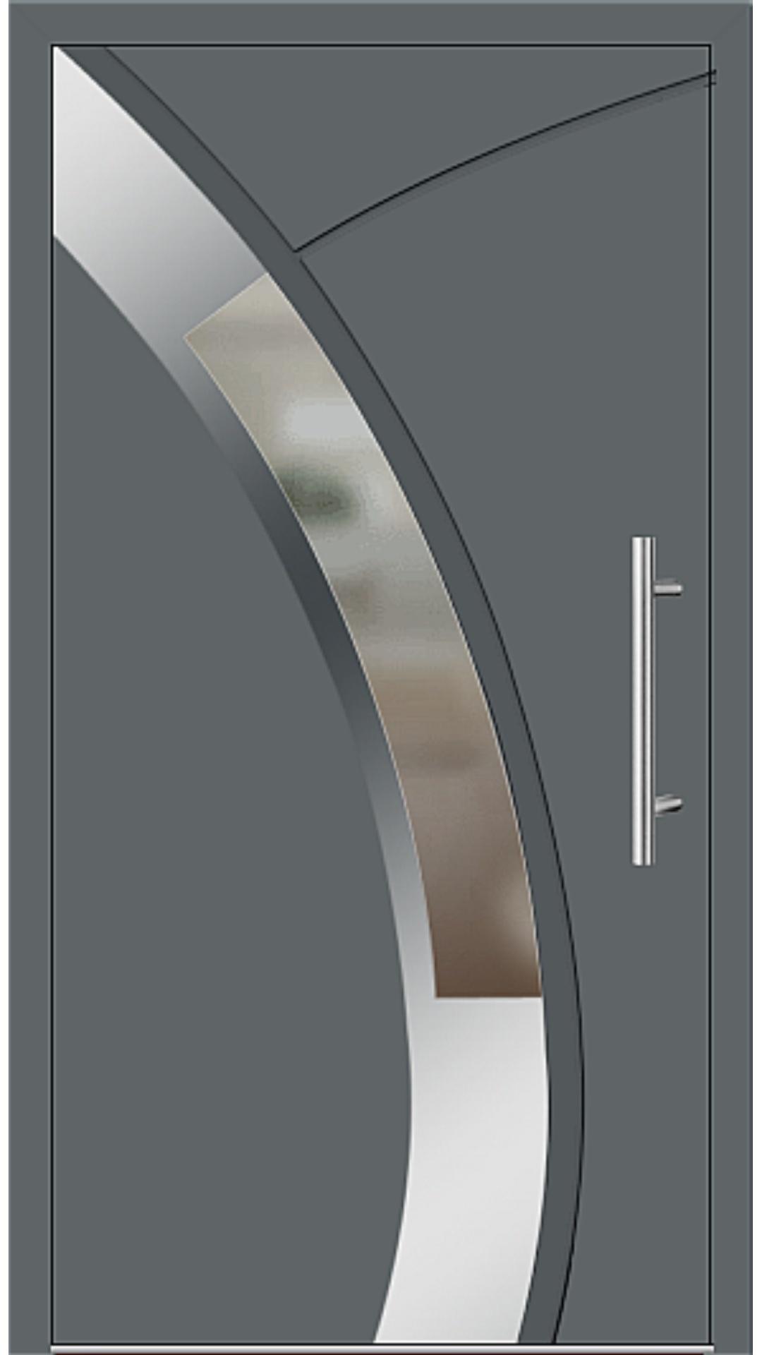 Aluminium Haustür Modell 6438-57 basaltgrau