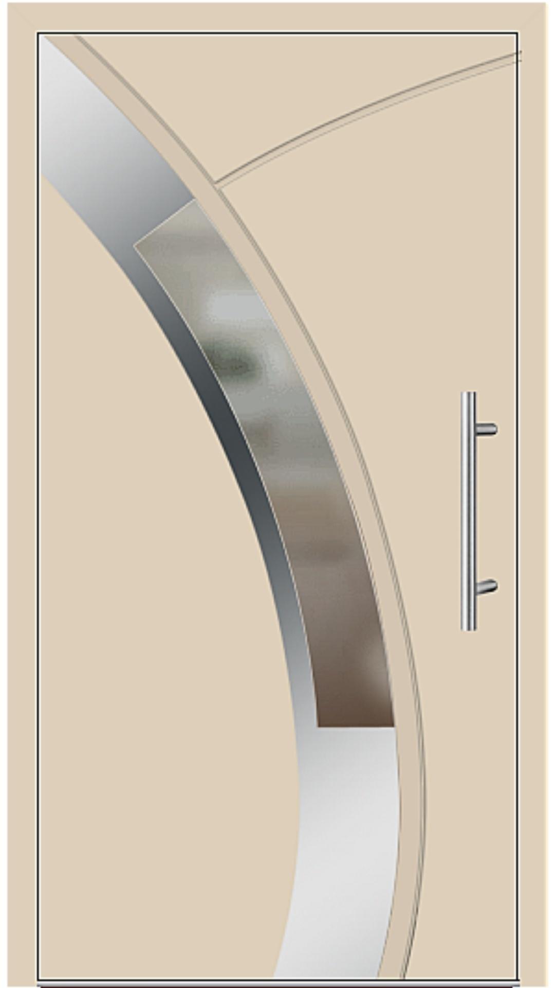 Aluminium Haustür Modell 6438-57 beige
