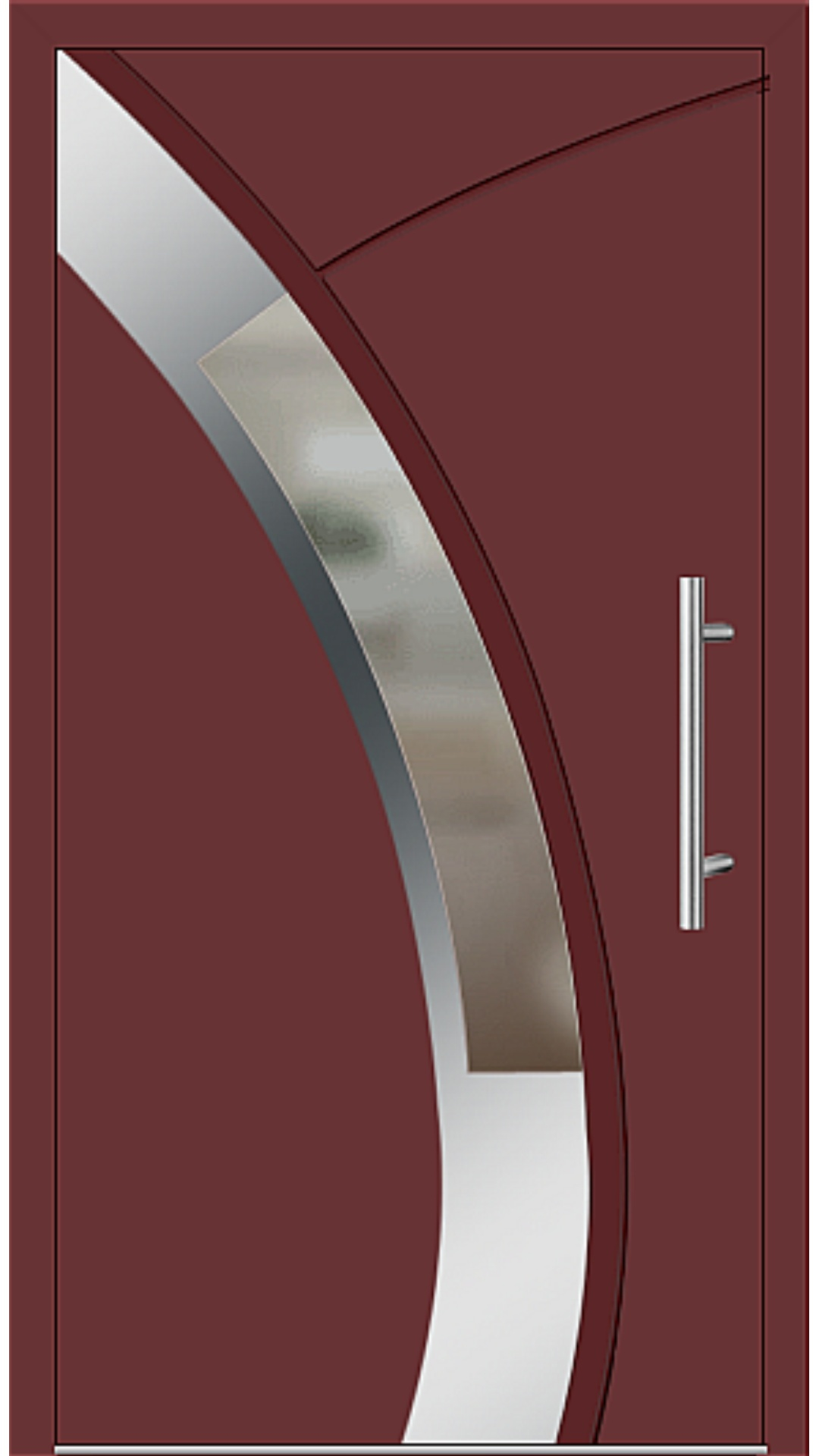Aluminium Haustür Modell 6438-57 braunrot