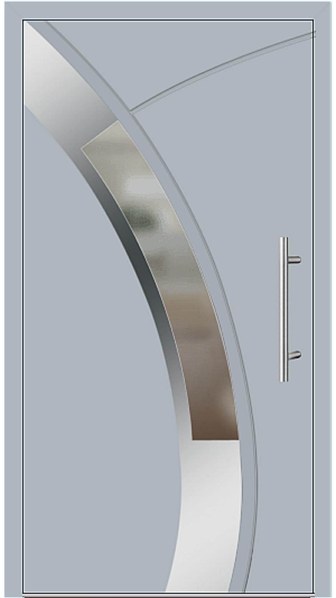 Aluminium Haustür Modell 6438-57 fehgrau