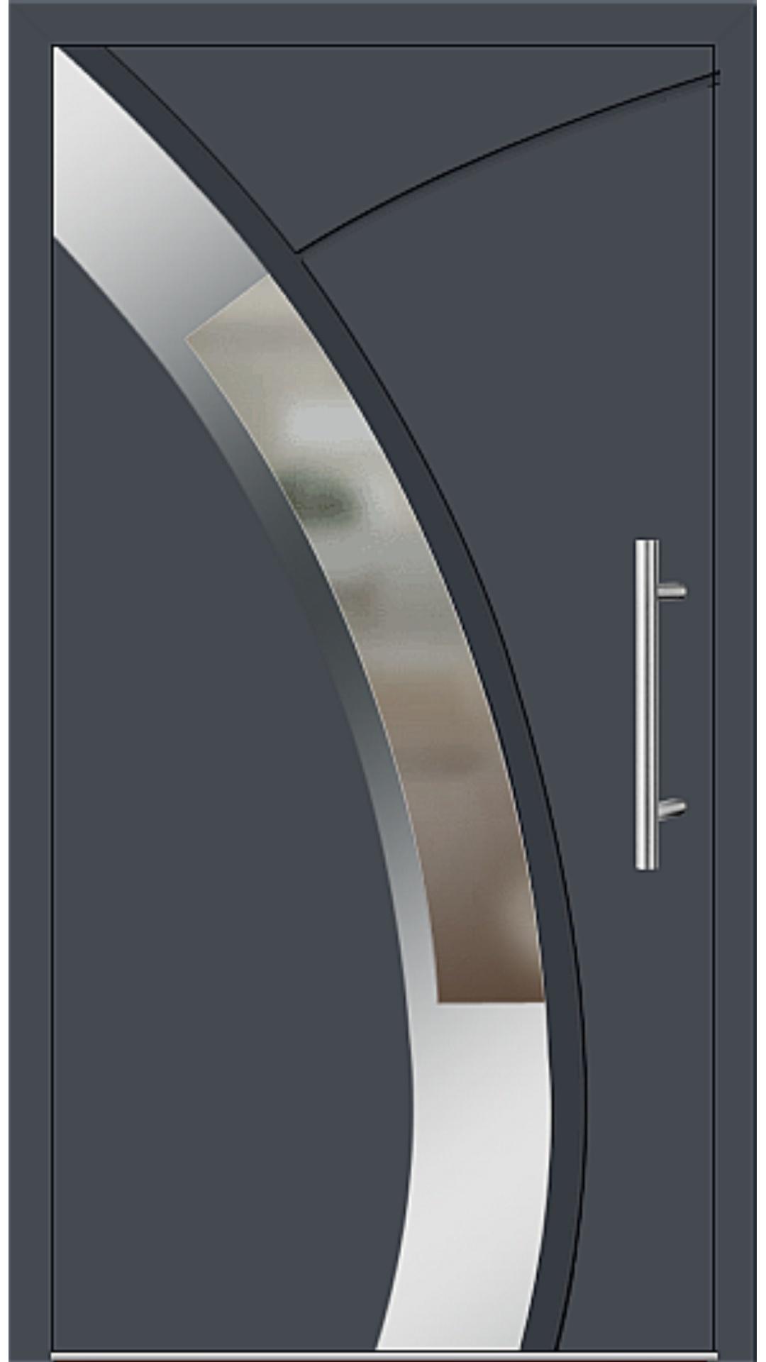 Aluminium Haustür Modell 6438-57 graphitgrau