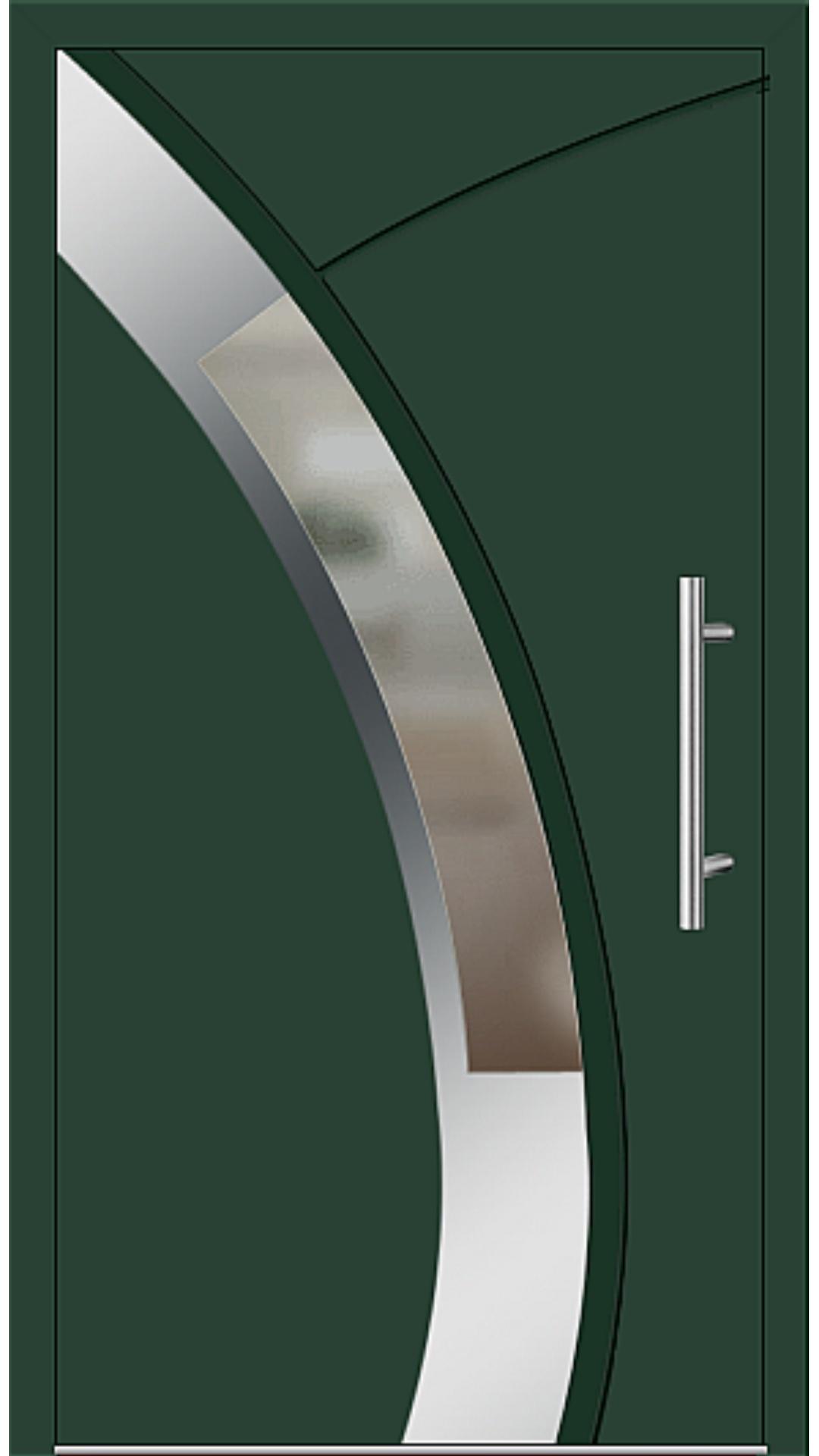 Aluminium Haustür Modell 6438-57 moosgrün