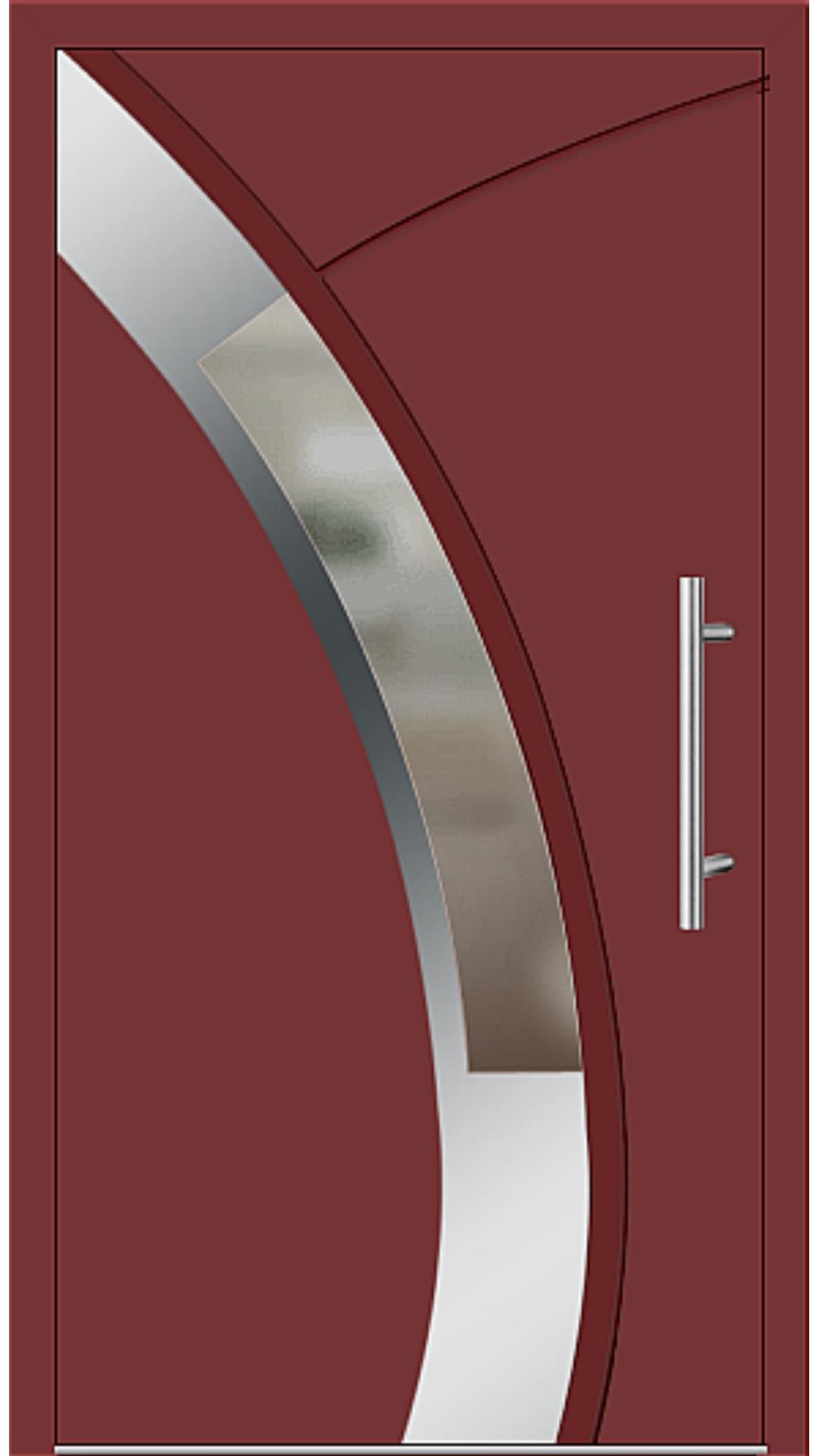 Aluminium Haustür Modell 6438-57 rubinrot