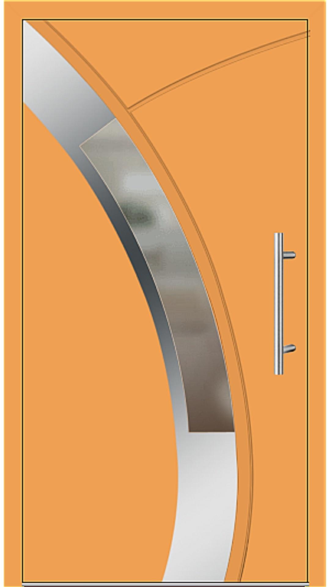 Aluminium Haustür Modell 6438-57 safrangelb