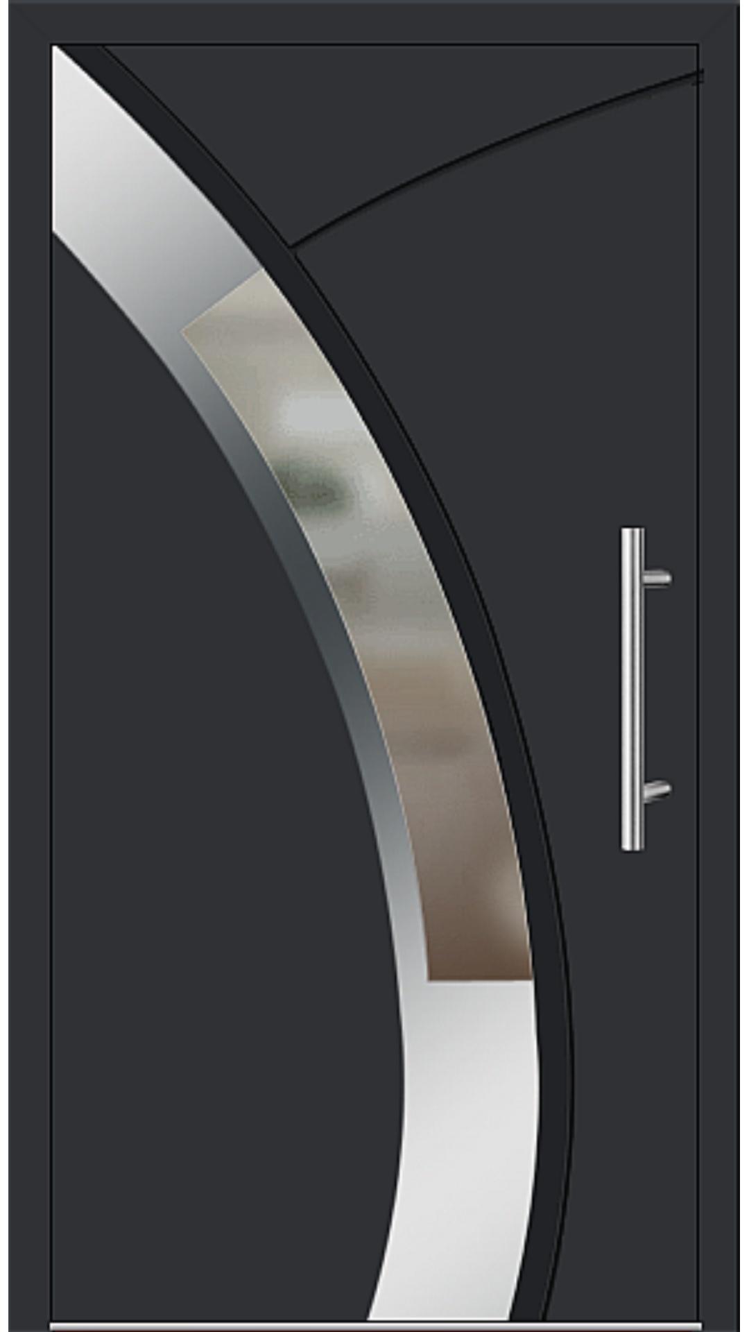 Aluminium Haustür Modell 6438-57 schwarz