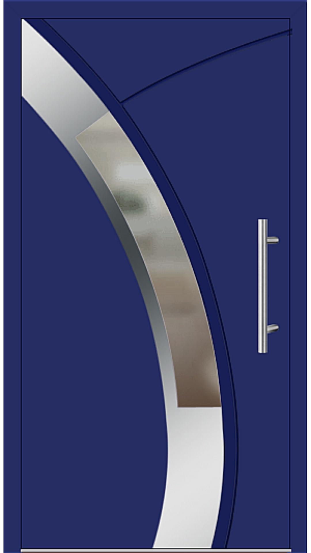 Aluminium Haustür Modell 6438-57 ultramarinblau