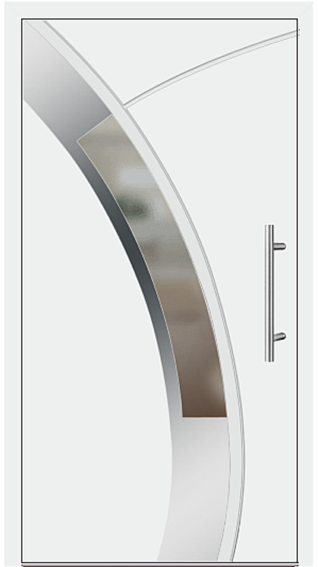 Aluminium Haustür Modell 6438-57 weiß
