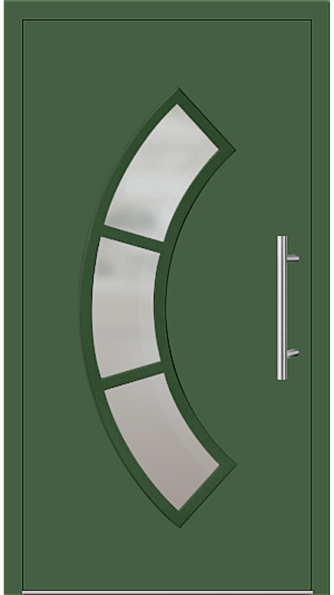 Aluminium Haustür Modell 6440-65 laubgrün