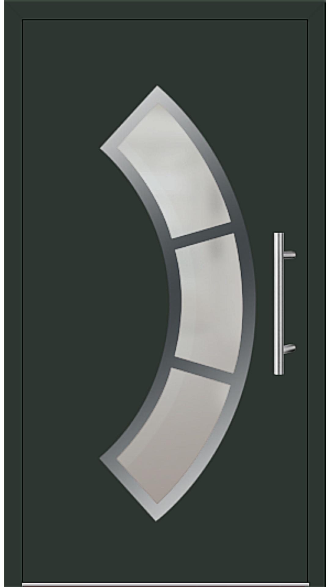Aluminium Haustür Modell 6440-75 tannengrün
