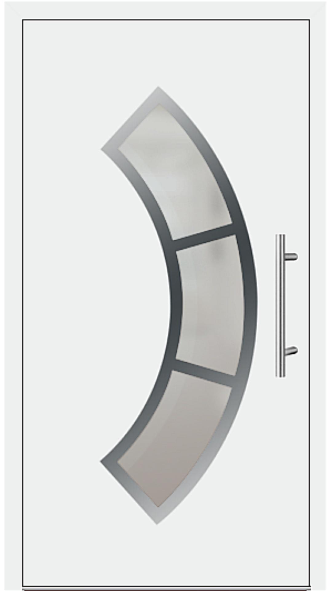 Aluminium Haustür Modell 6440-75 weiß