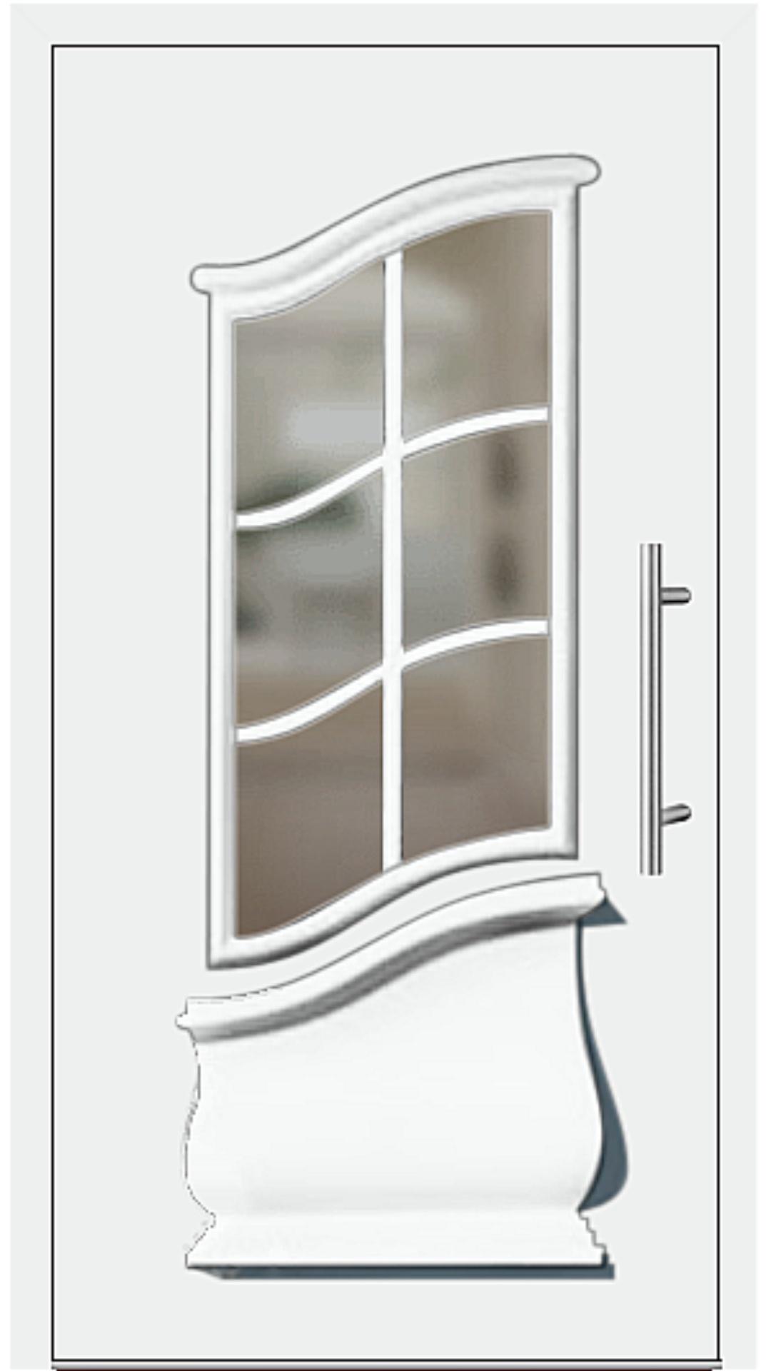 Aluminium Haustür Modell 6453-15 weiß
