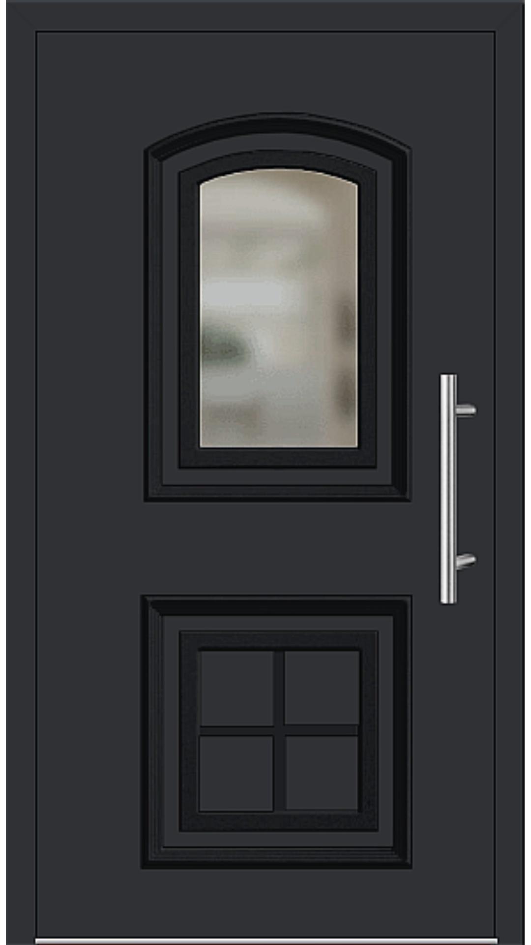Aluminium Haustür Modell 6455-15 schwarz