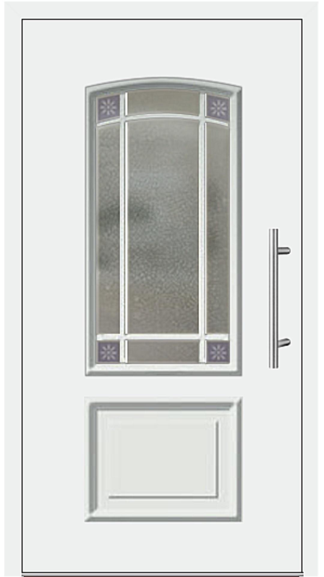 Aluminium Haustür Modell 6456-15 weiß