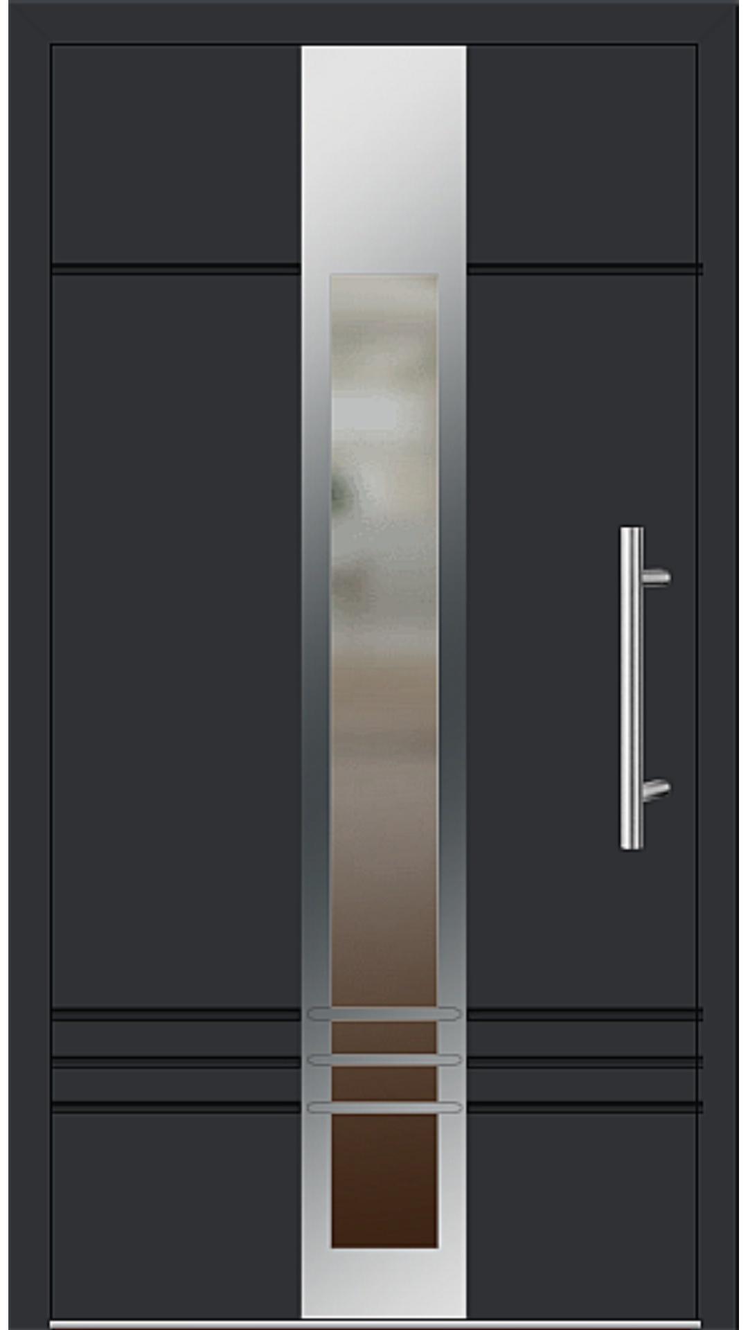Aluminium Haustür Modell 6469-79 schwarz