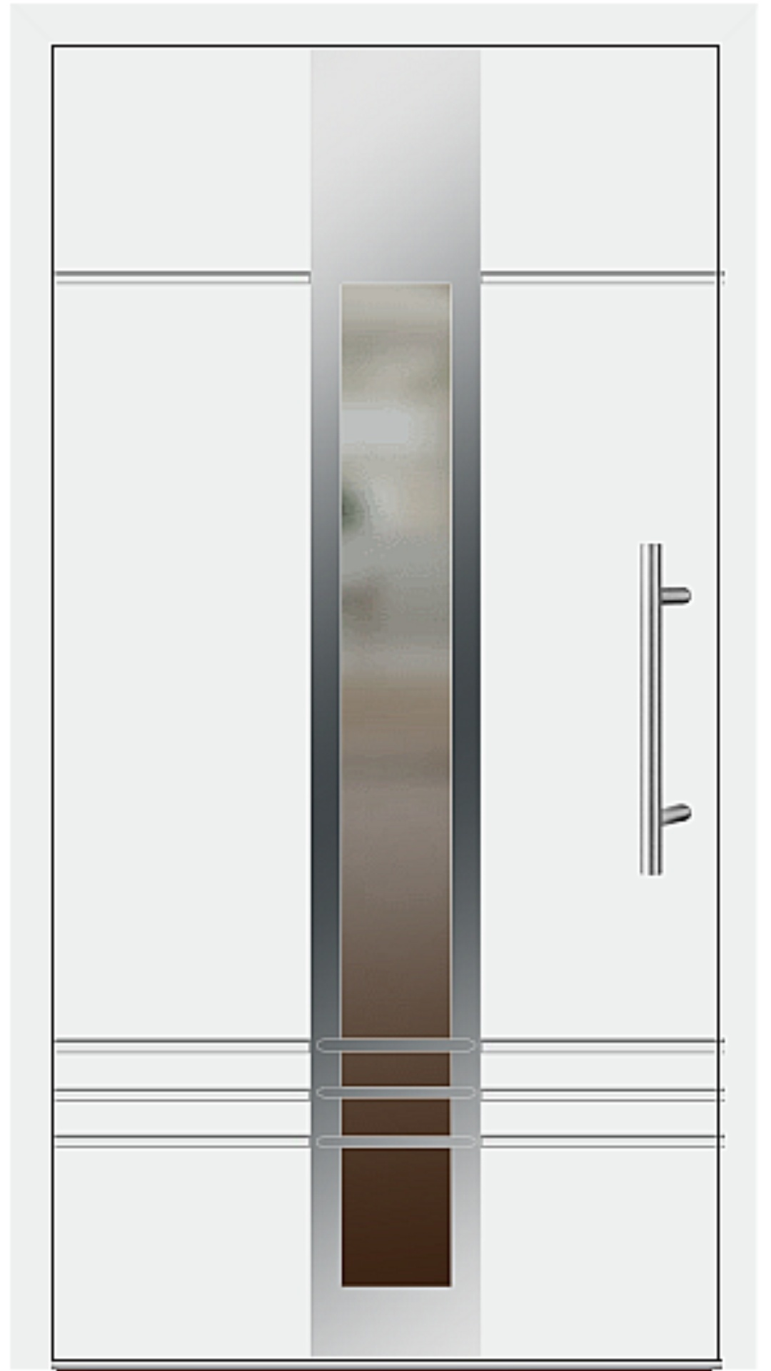 Aluminium Haustür Modell 6469-79 weiß