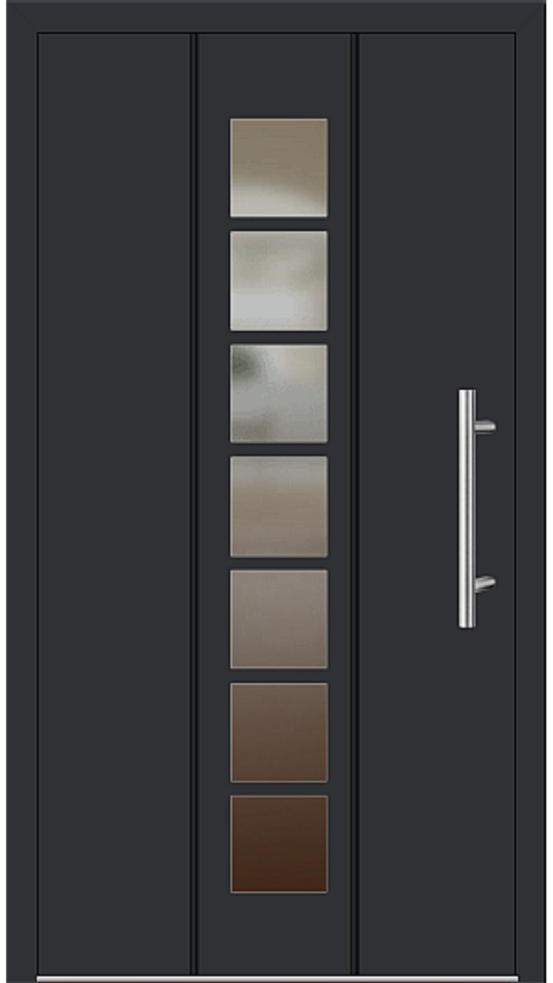 Aluminium Haustür Modell 6512-52 schwarz