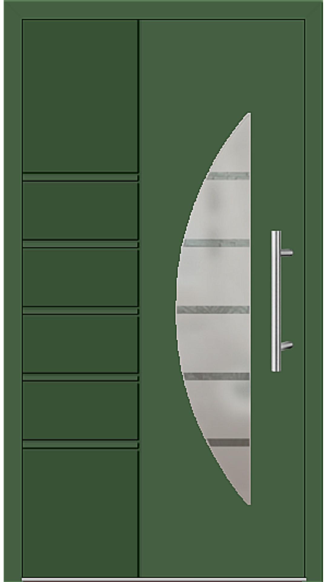 Aluminium Haustür Modell 6514-52 laubgrün
