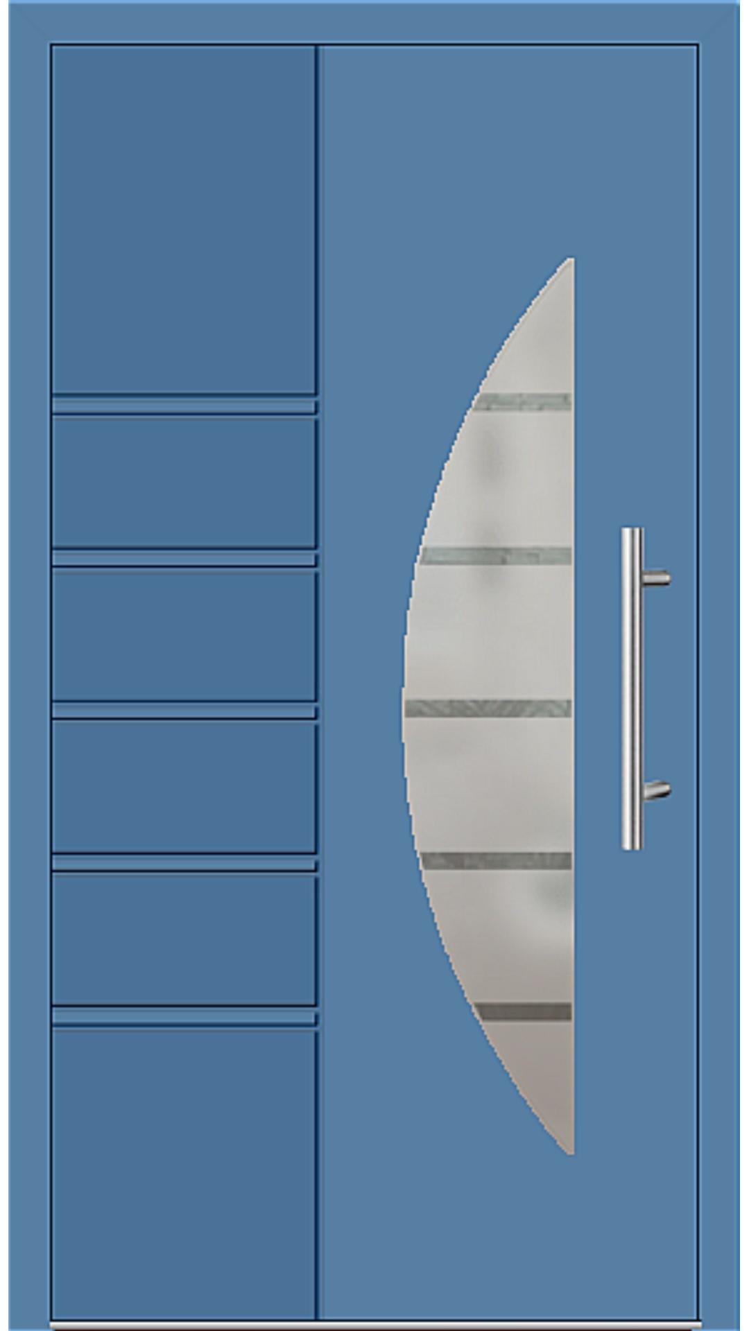 Aluminium Haustür Modell 6514-52 lichtblau