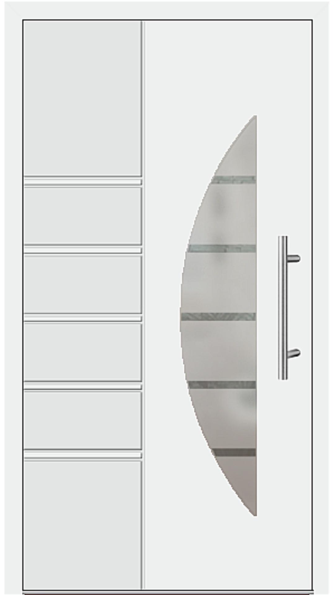 Aluminium Haustür Modell 6514-52 weiß