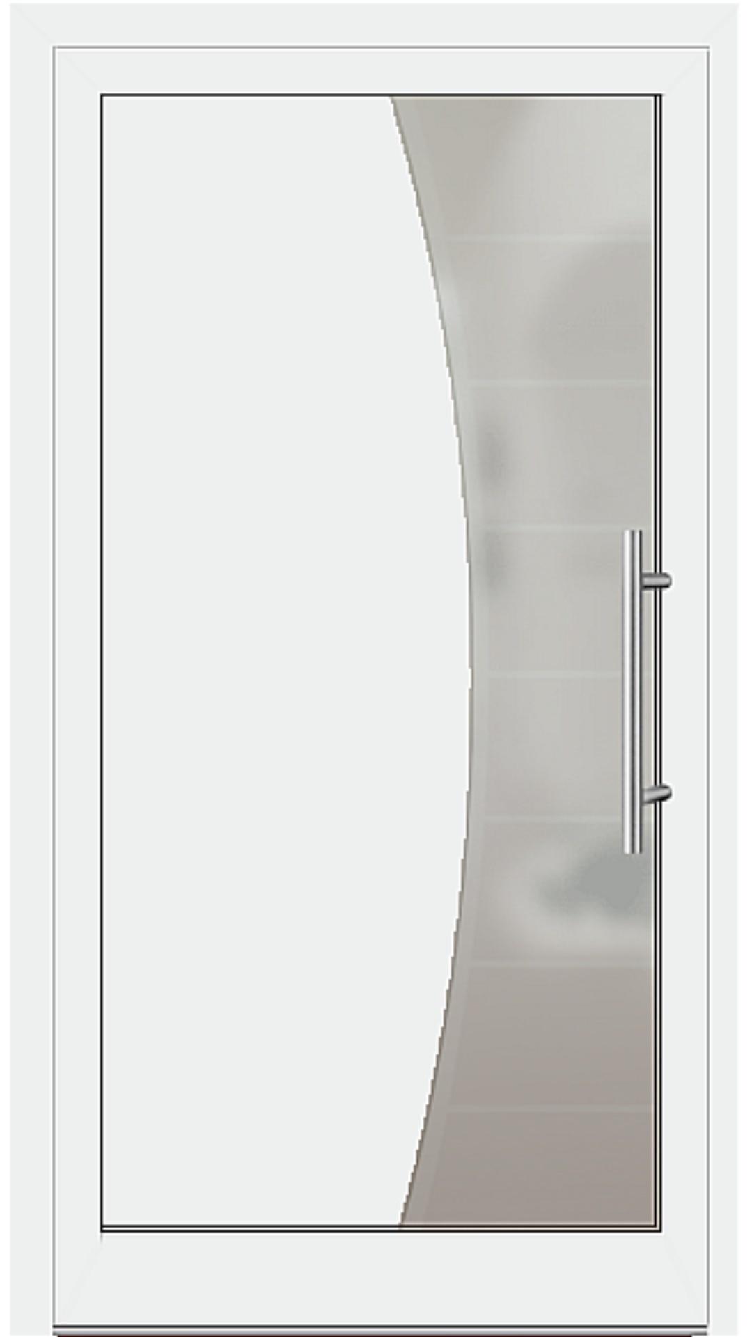 Aluminium Haustür Modell 6516-50 weiß