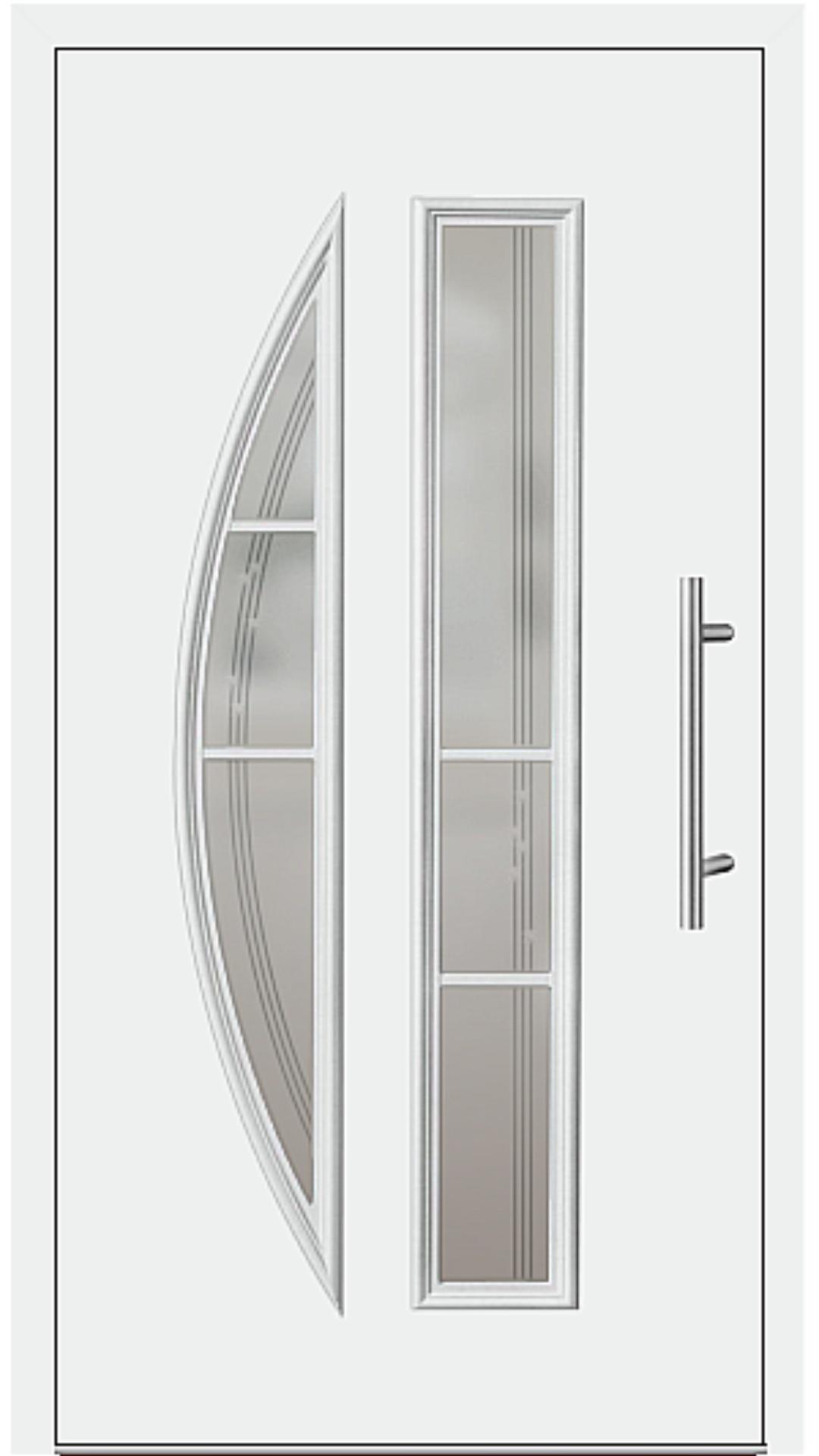 Aluminium Haustür Modell 6525-65 weiß