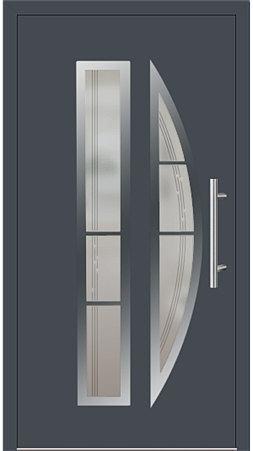 Aluminium Haustür Modell 6525-75 graphitgrau