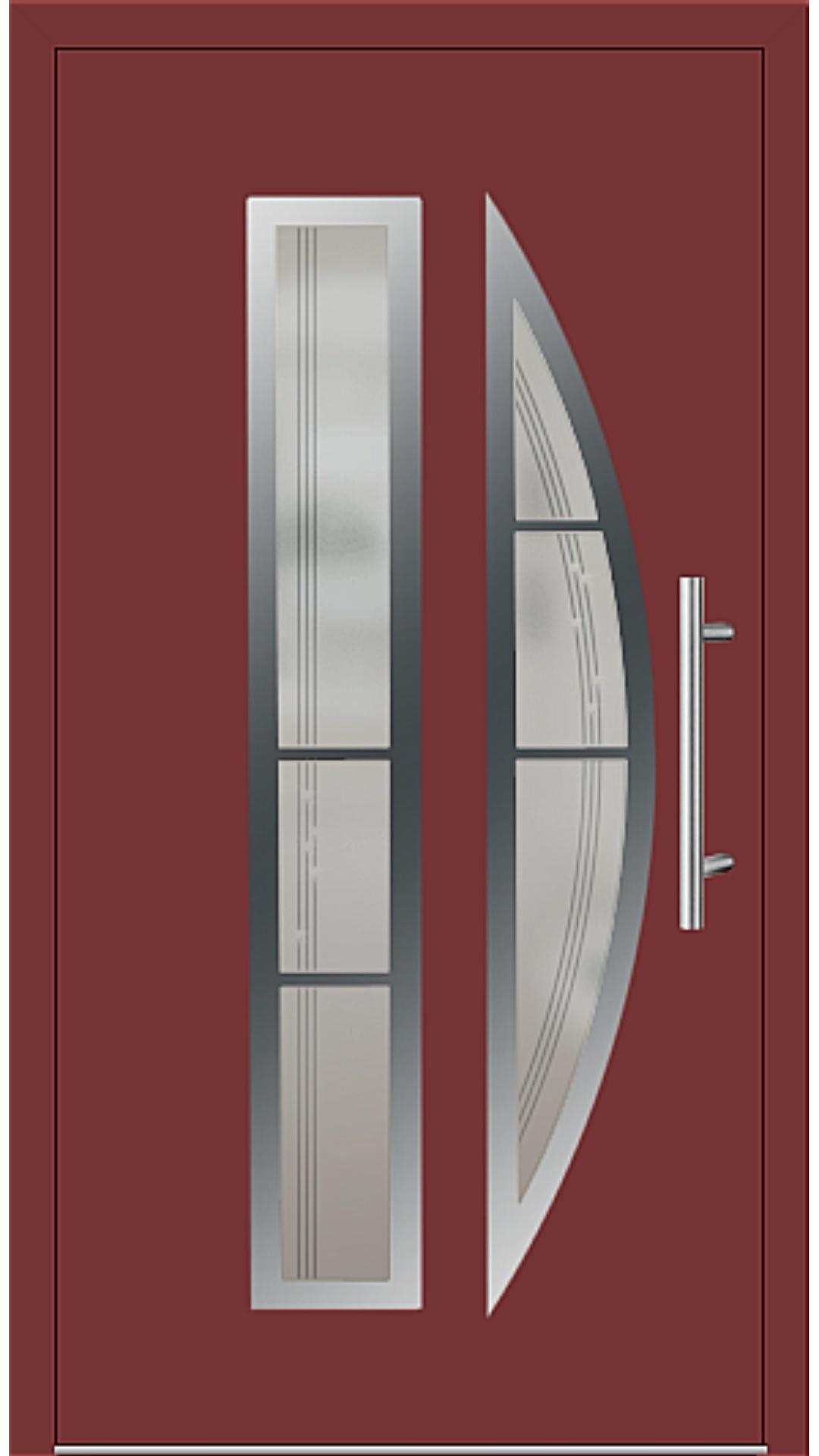 Aluminium Haustür Modell 6525-75 rubinrot