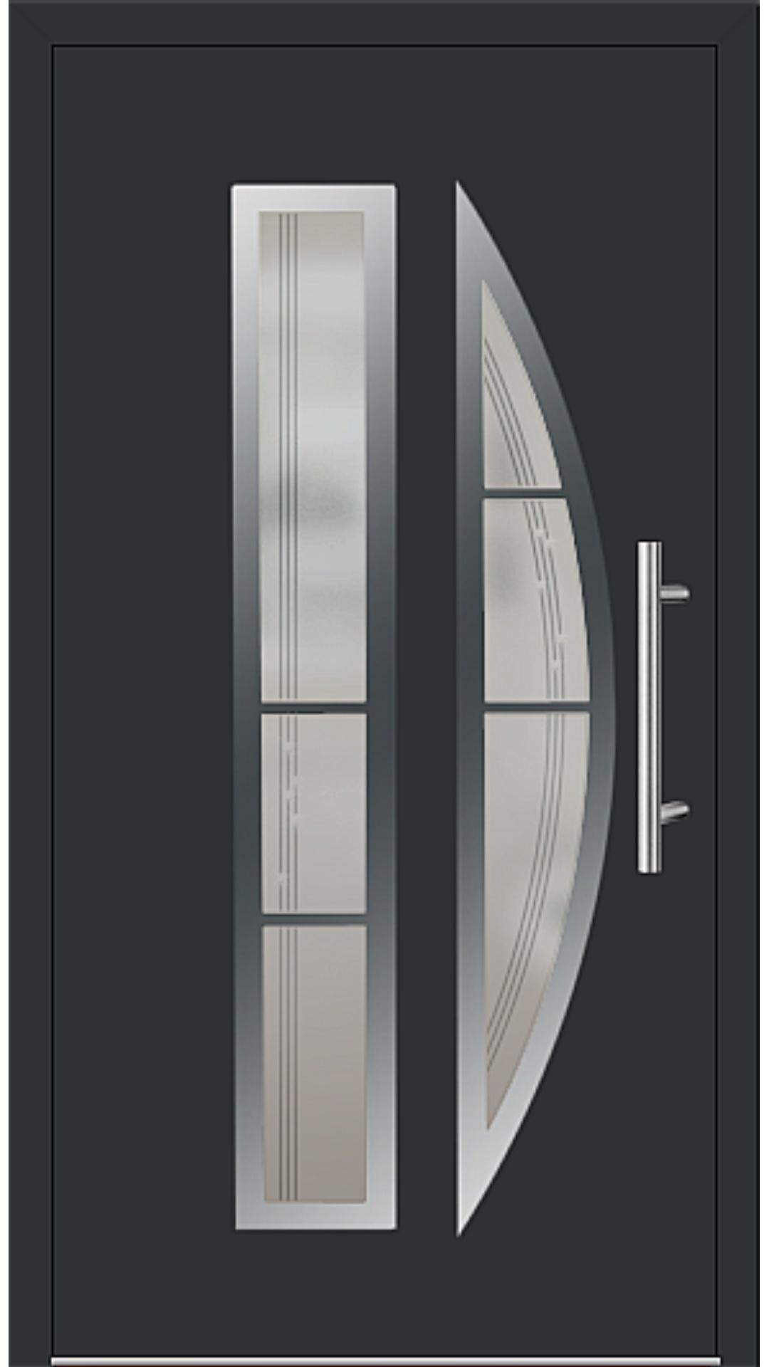 Aluminium Haustür Modell 6525-75 schwarz
