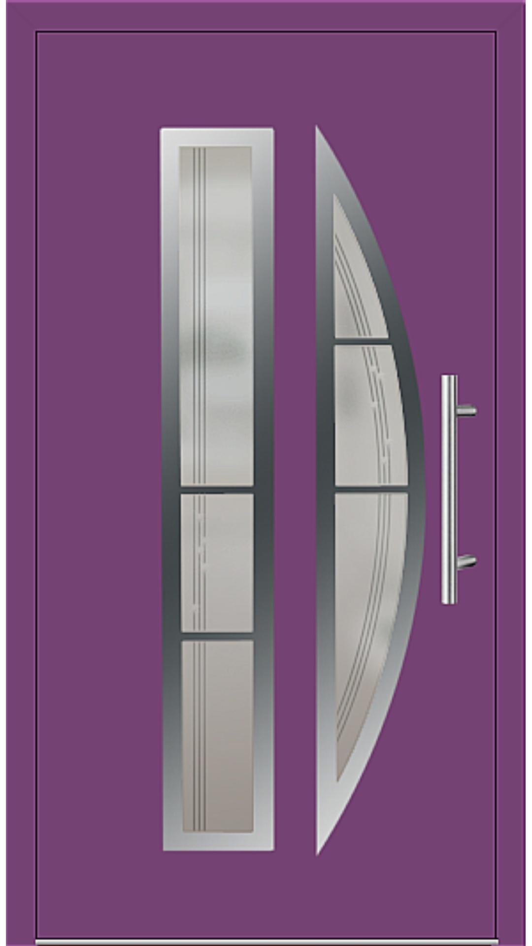 Aluminium Haustür Modell 6525-75 singalviolett