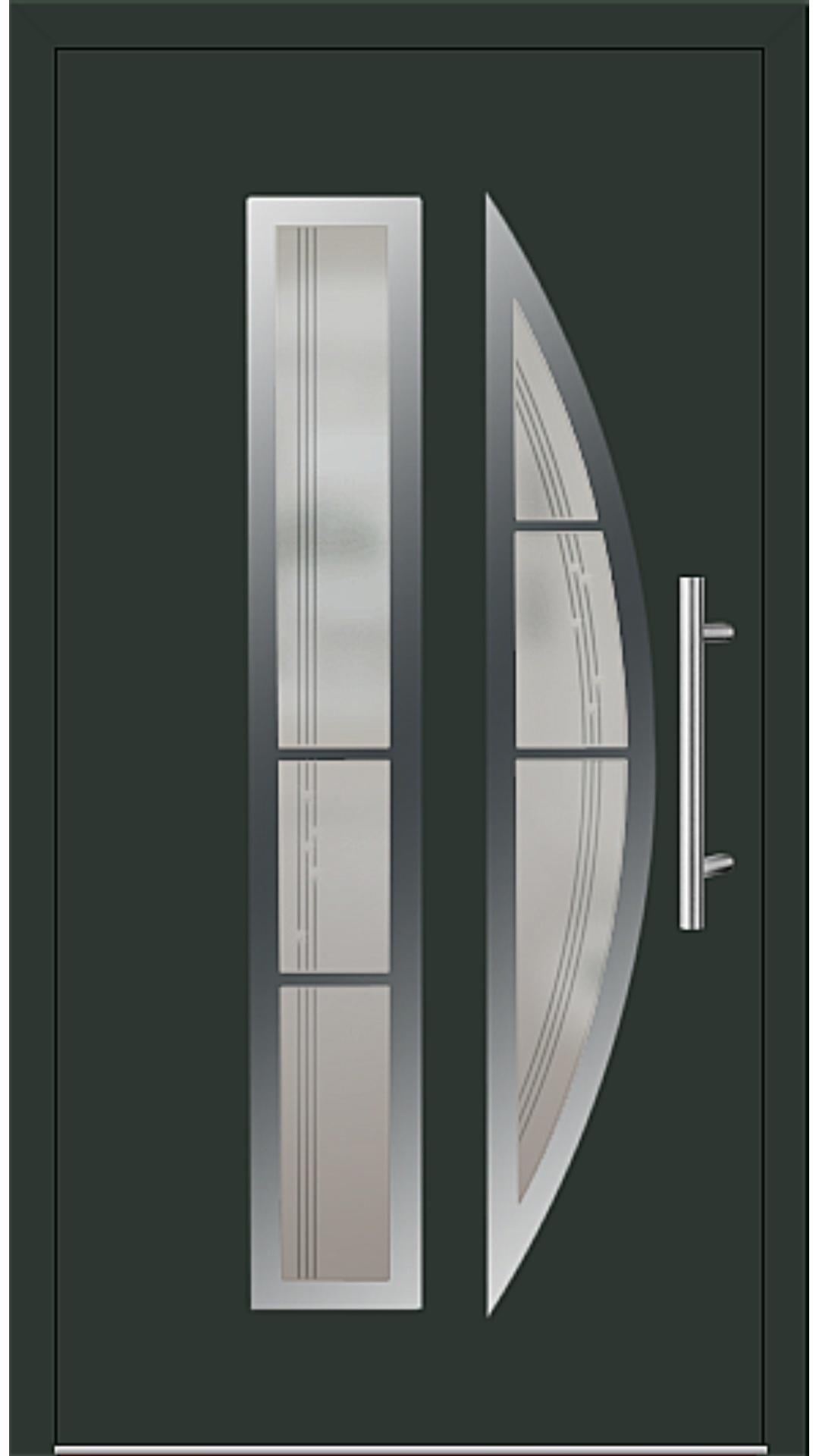 Aluminium Haustür Modell 6525-75 tannengrün