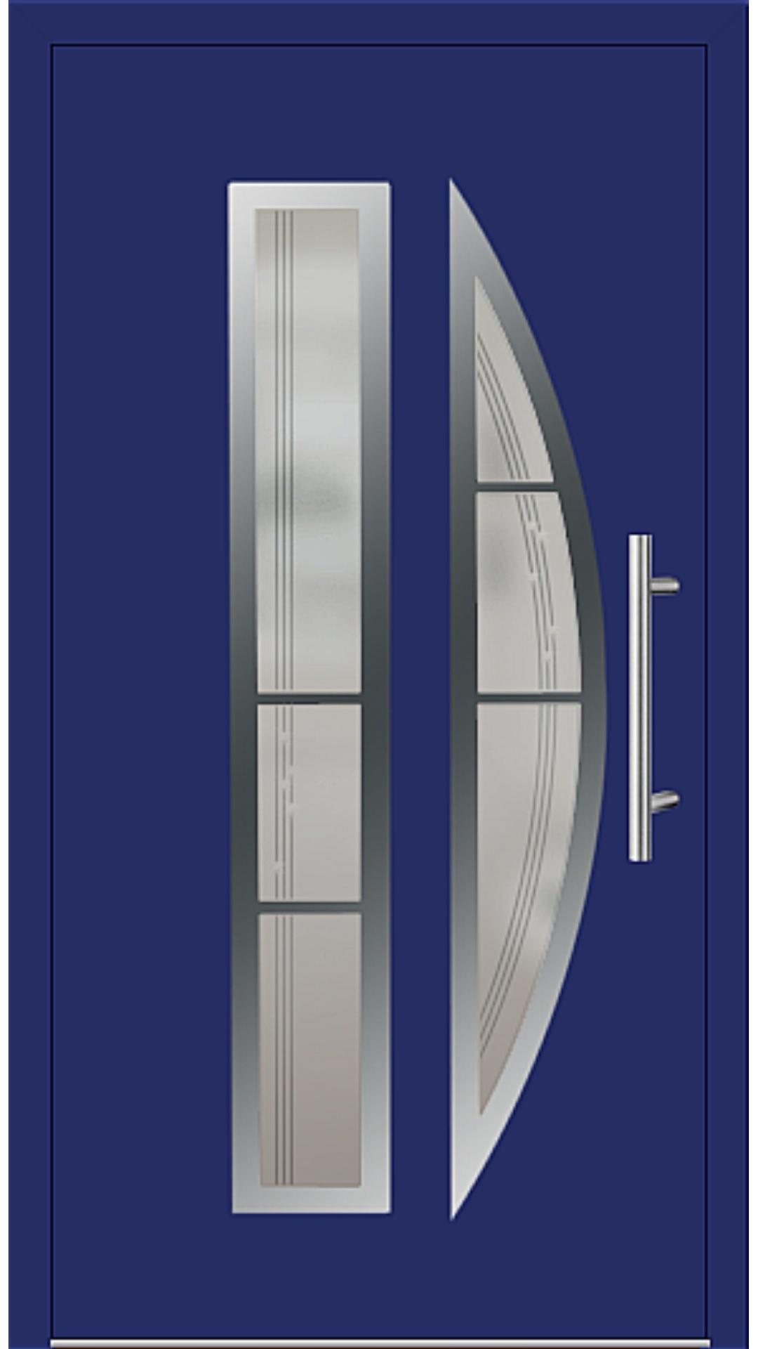 Aluminium Haustür Modell 6525-75 ultramarinblau